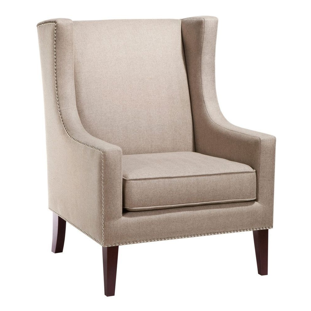 Madison Park Barton Accent Chair, Med Beige (View 12 of 20)