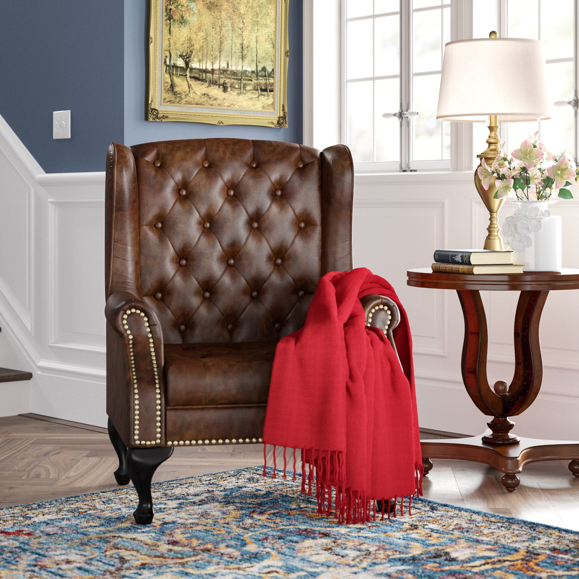 Marisa Faux Leather Wingback Chairs For Most Recent Faux Leather Wingback Accent Chairs You'll Love In  (View 10 of 20)