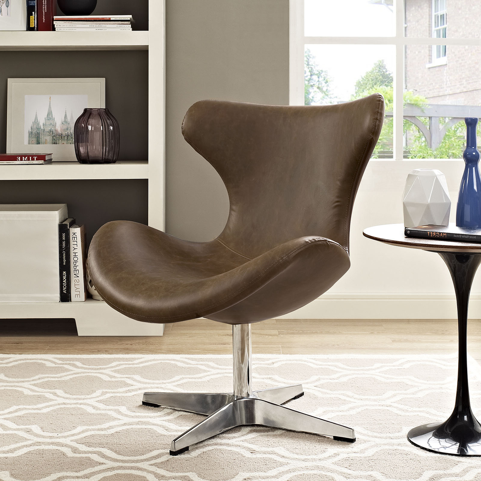 Marisa Faux Leather Wingback Chairs In Famous Faux Leather George Oliver Accent Chairs You'll Love In (View 15 of 20)
