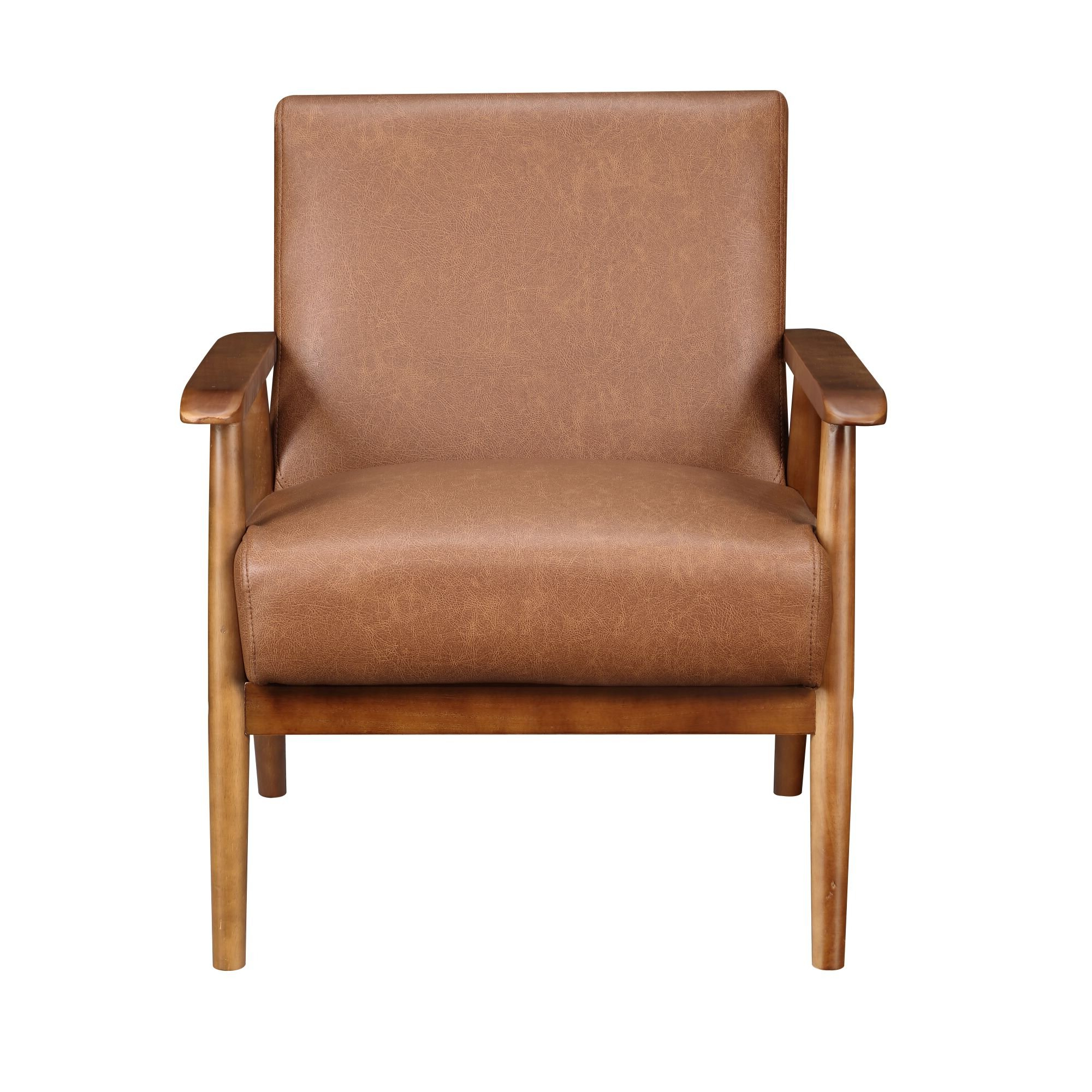Marisa Faux Leather Wingback Chairs Intended For Recent Faux Leather George Oliver Accent Chairs You'll Love In  (View 3 of 20)