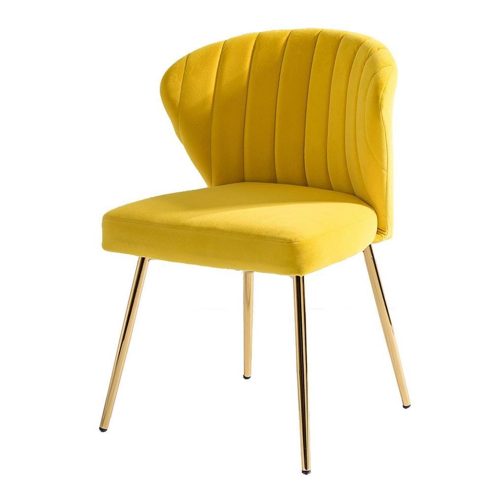 Mercer41 Erasmus Side Chair Fabric: Blue – Vozeli Throughout Famous Erasmus Velvet Side Chairs (set Of 2) (View 16 of 20)