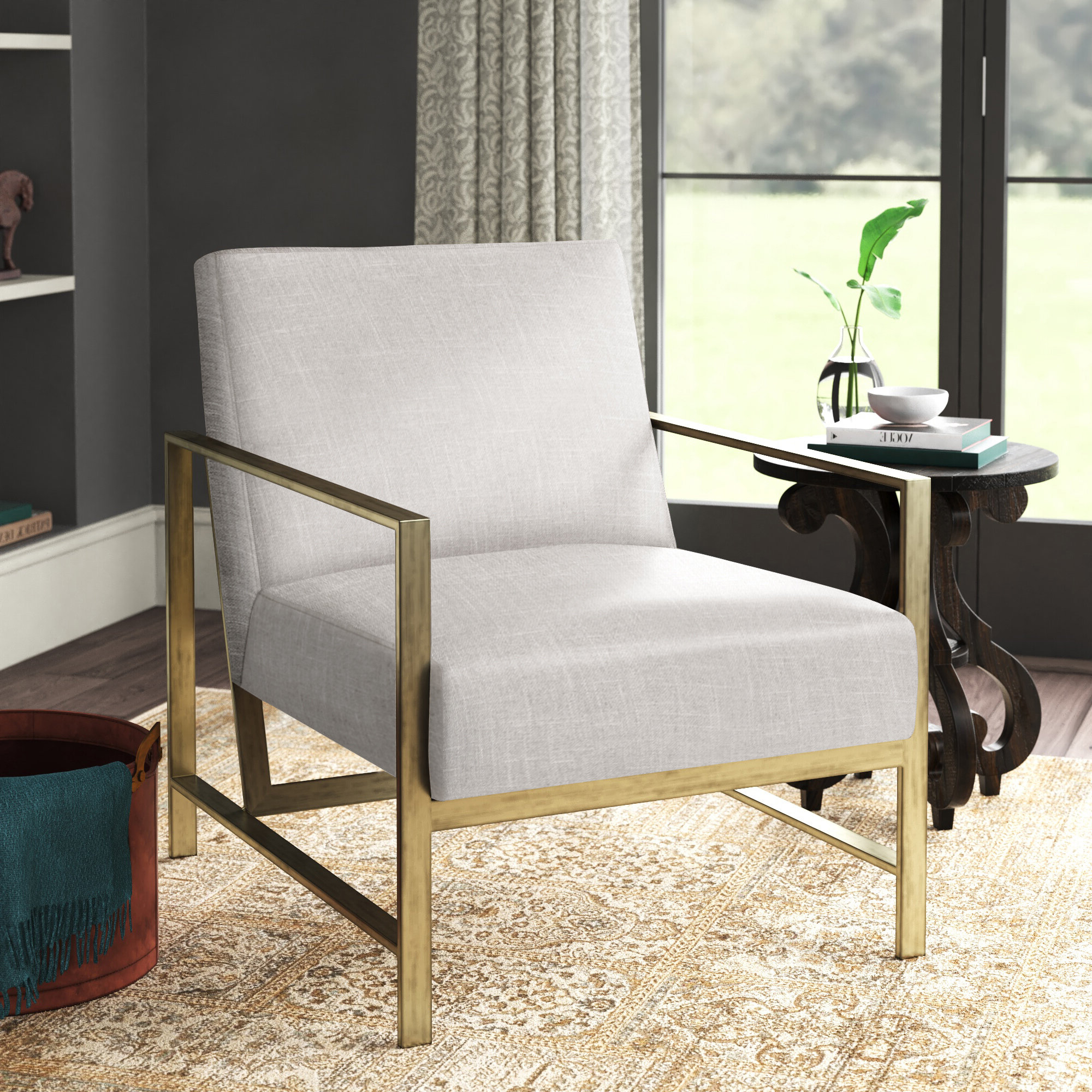 Metal Accent Chairs You'll Love In (View 16 of 20)