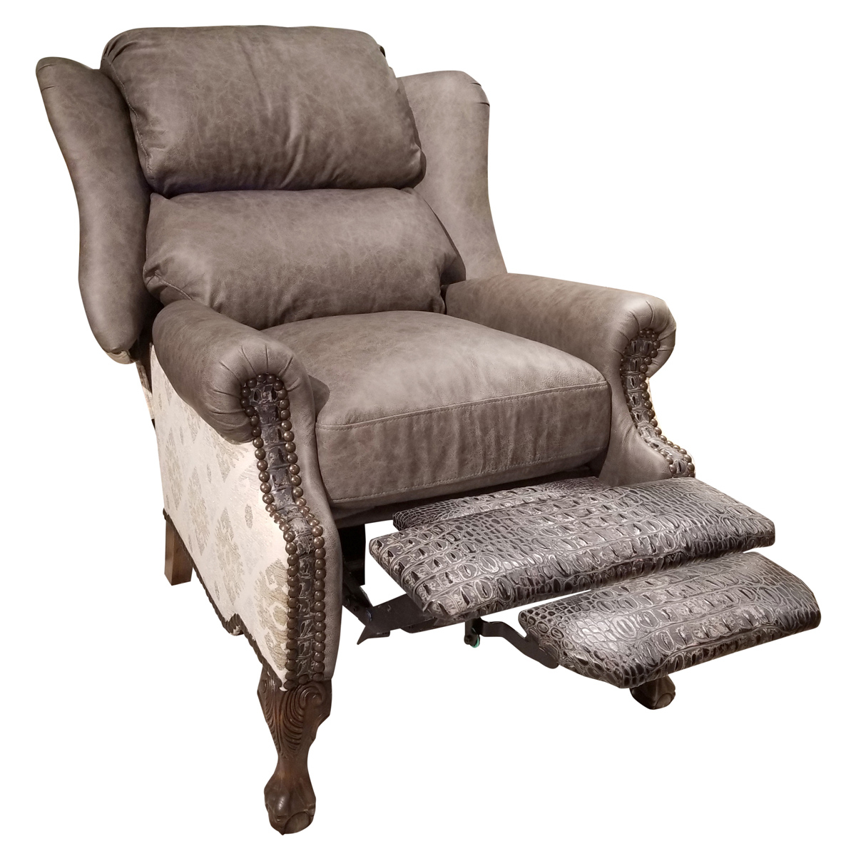 Modern Ranch Wingback Recliner Regarding Most Up To Date Sweetwater Wingback Chairs (View 17 of 20)