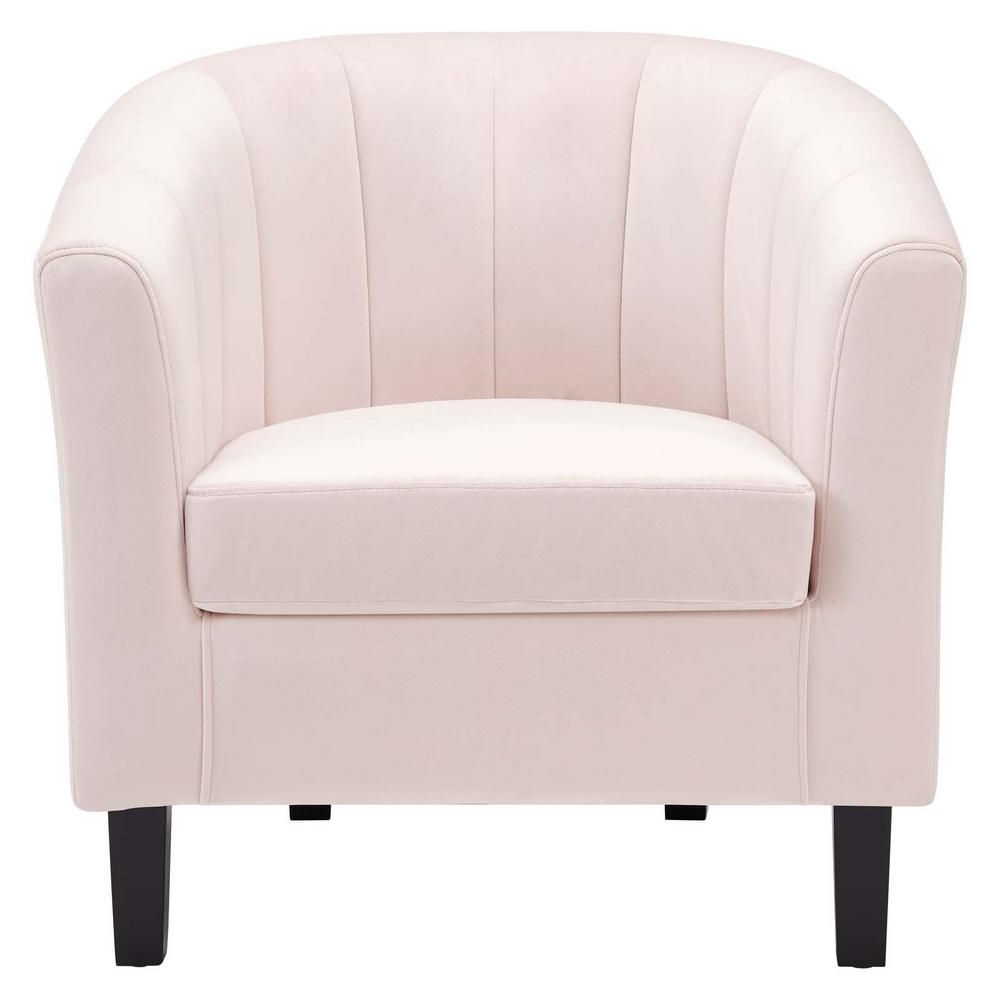 Modway Prospect Channel In Pink Tufted Performance Velvet Inside Famous Ziaa Barrel Chairs (View 17 of 20)