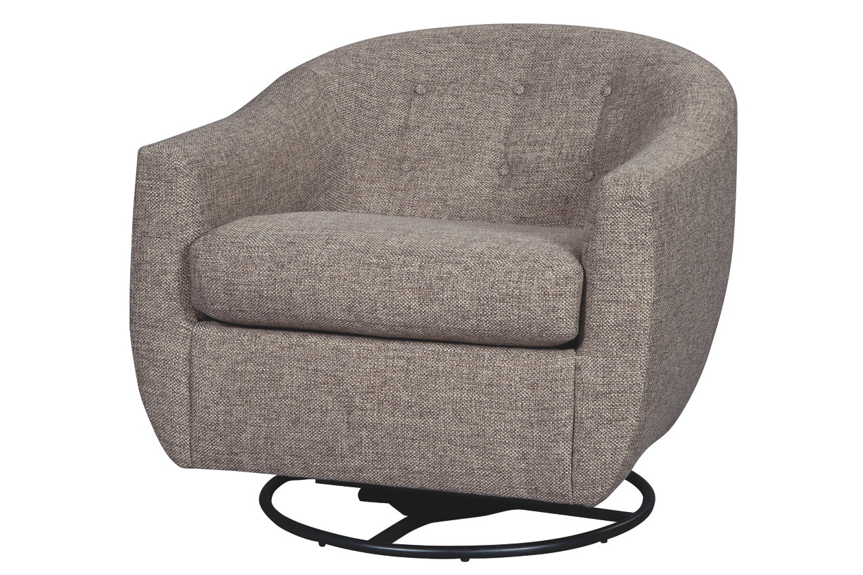 Molinari Swivel Barrel Chairs Pertaining To Well Known Upshur Accent Chair (View 12 of 20)