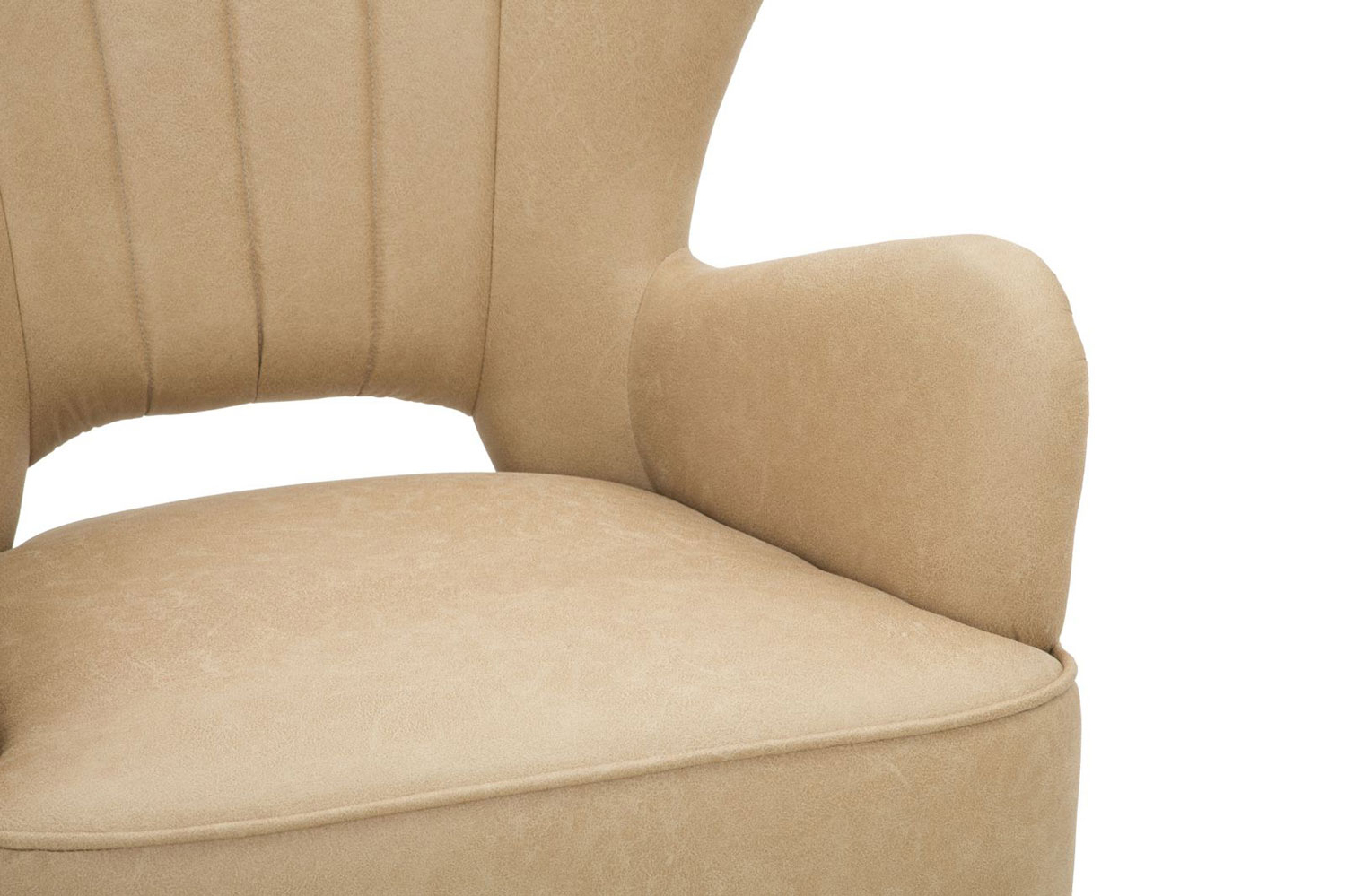 Montenegro Faux Leather Club Chairs For 2020 Industrial Style Design Armchair In Faux Leather And Wood (View 13 of 20)