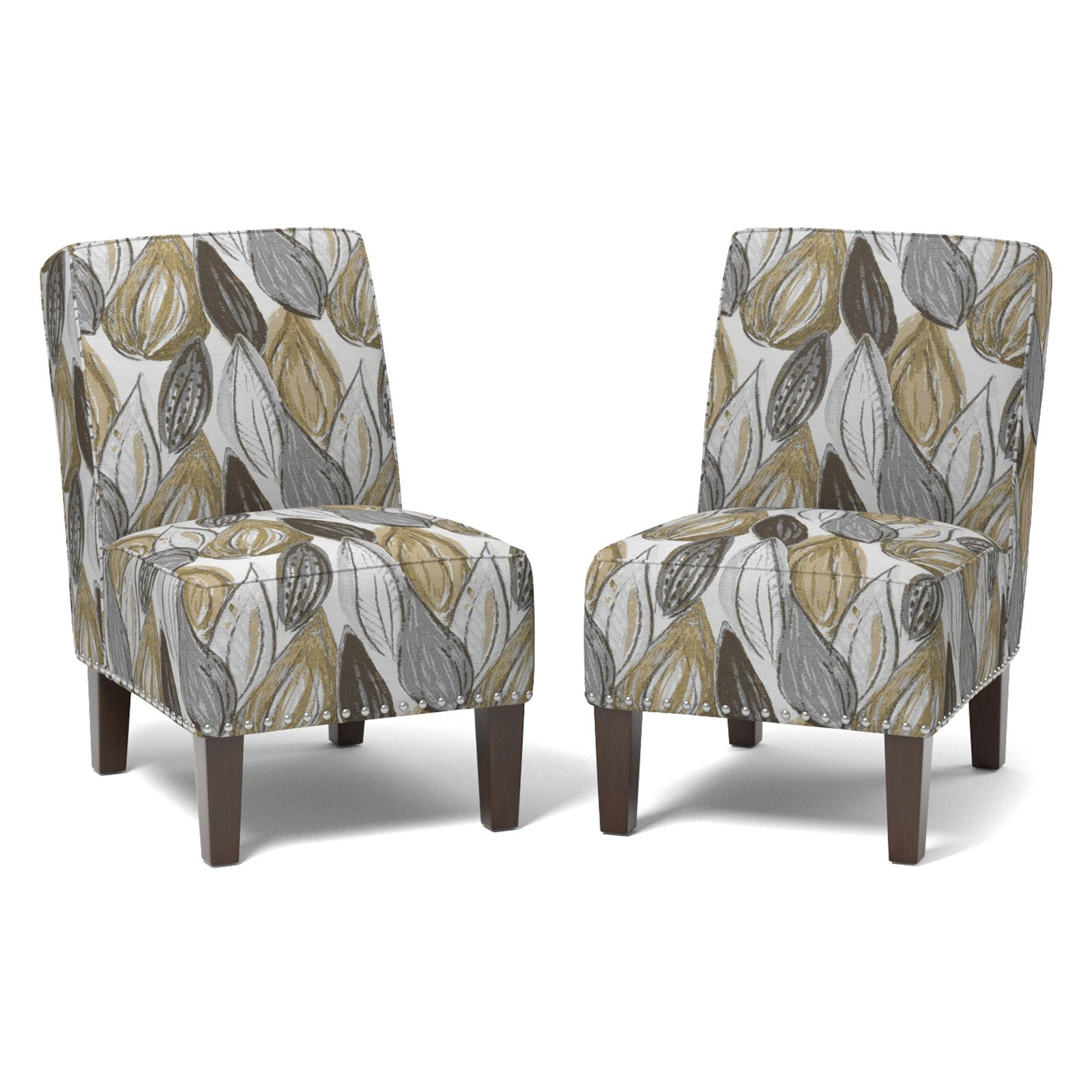 Most Current Brodee Armless Chair, Multiple Colors, Set Of 2 – Walmart Throughout Goodyear Slipper Chairs (View 10 of 20)