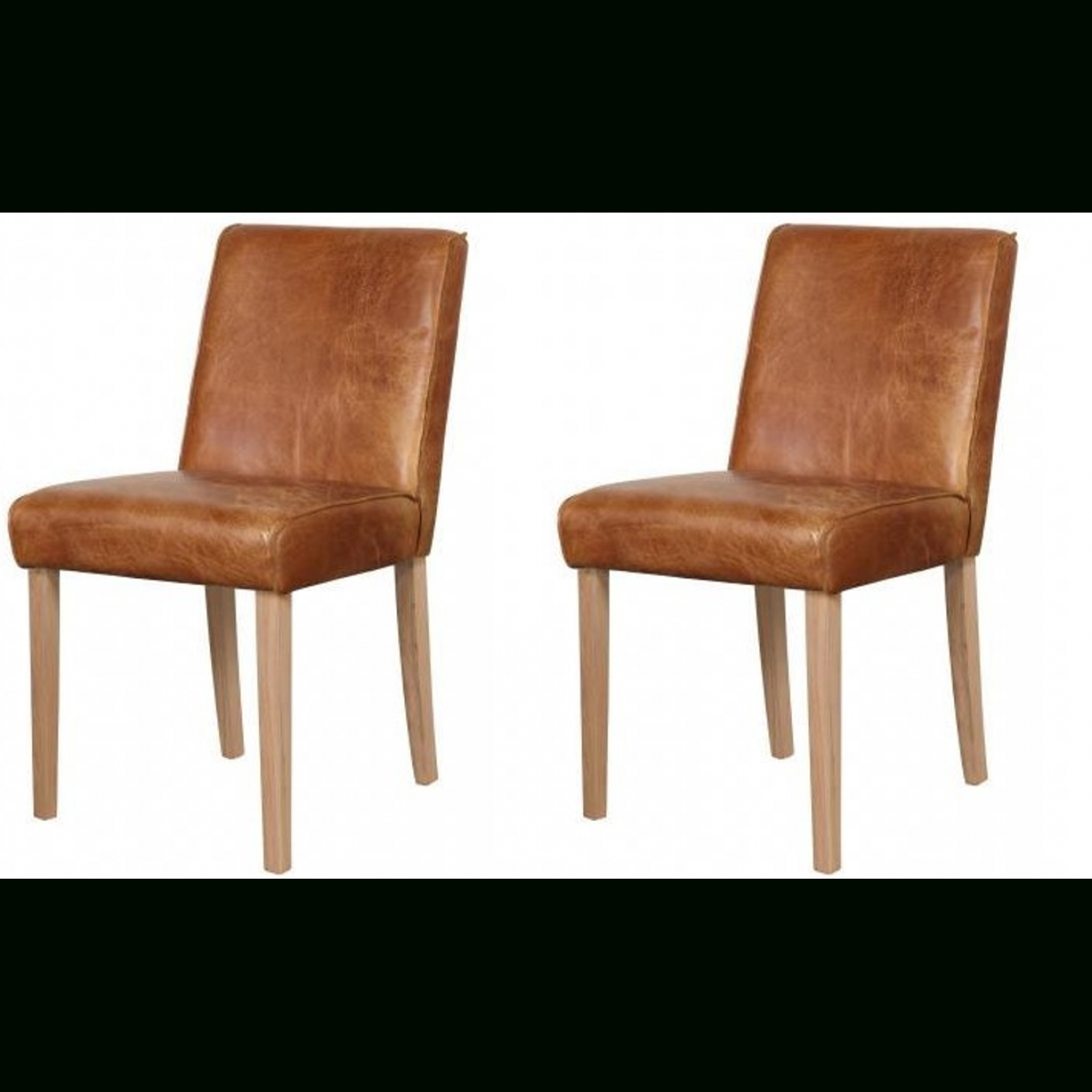 Most Current Carlton Wood Leg Upholstered Dining Chairs Inside Additions Oak Furniture Brown Barton Aniline Leather Dining Chair Pair (View 16 of 20)
