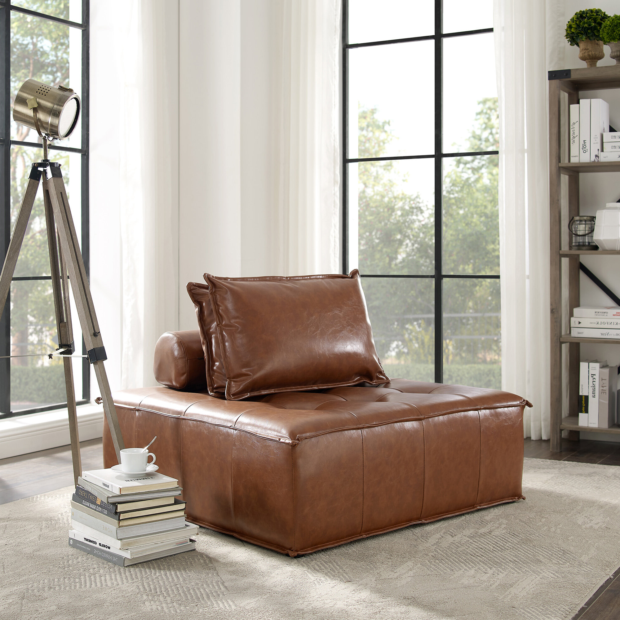 Most Current Convertible Solid Accent Chairs You'll Love In 2020 In Perz Tufted Faux Leather Convertible Chairs (View 7 of 20)