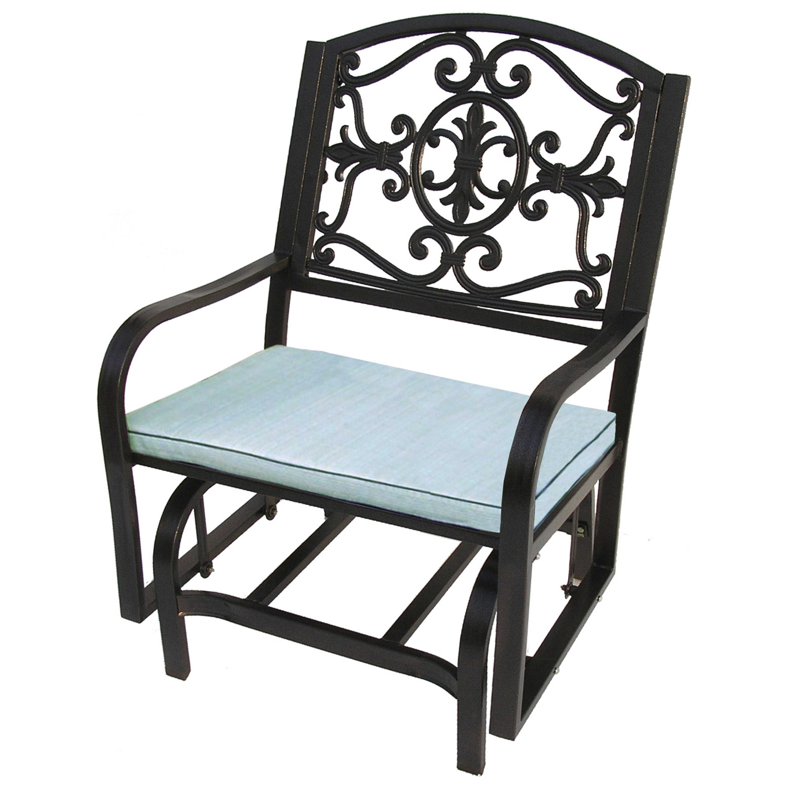 Most Current Lakeville Armchairs Within Oakland Living Lakeville Cast Aluminum Glider Chair With Cushion (View 15 of 20)