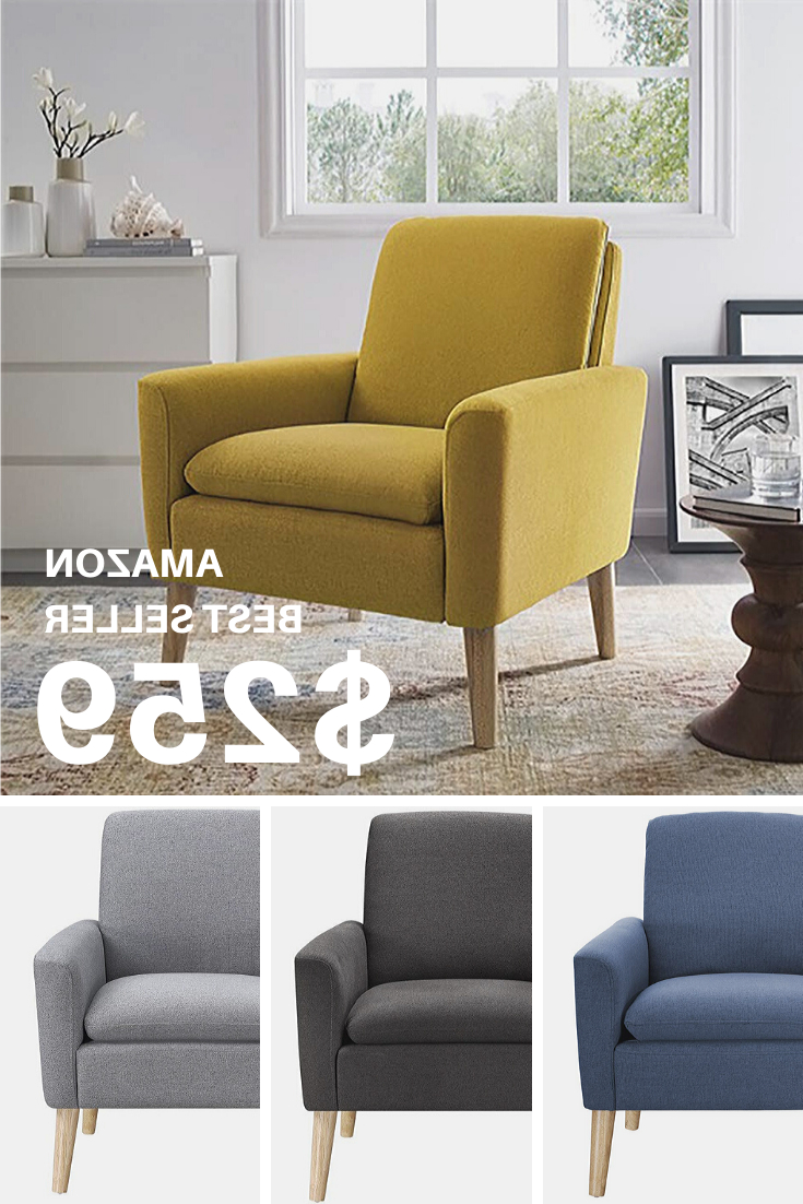 Most Current Oglesby Armchairs Pertaining To Modern Accent Fabric Single Sofa Comfy Upholstered Arm Chair (View 11 of 20)