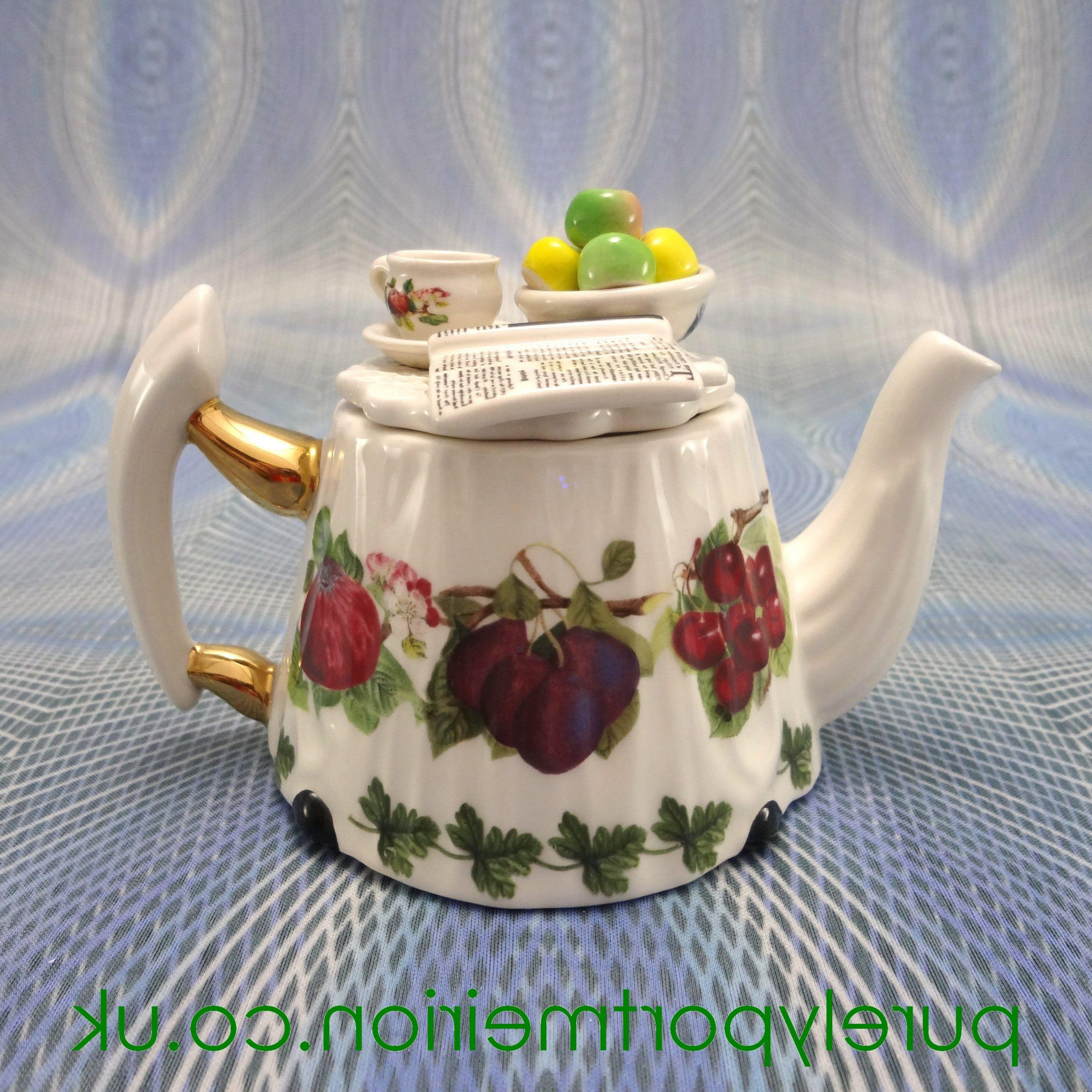 Most Current Paul Cardew Portmeirion Miniature Teapot, Pomona Table, Tp33 With Portmeirion Armchairs (View 20 of 20)