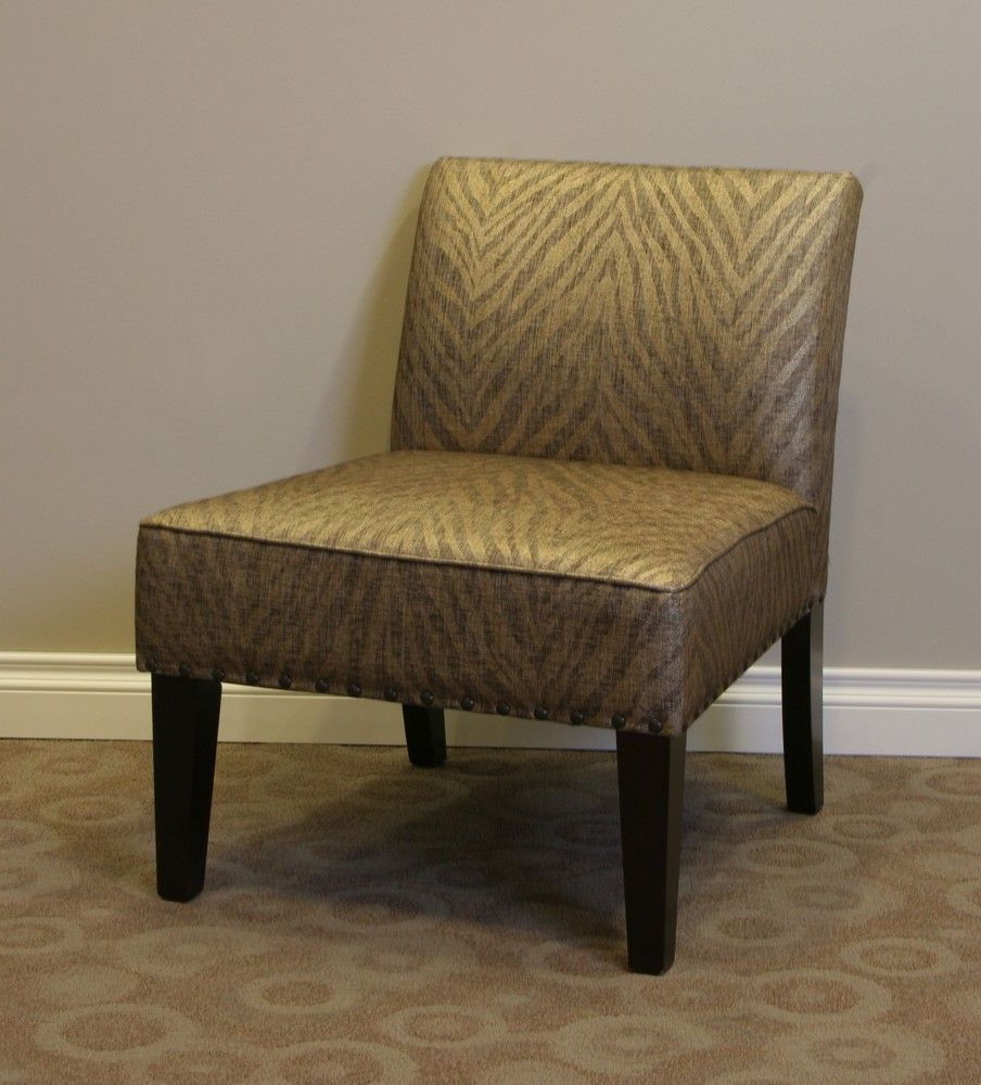 Most Popular Belinda Accent Chair In Metallic Woven Linen – 4d Concepts Within Maubara Tufted Wingback Chairs (View 14 of 20)