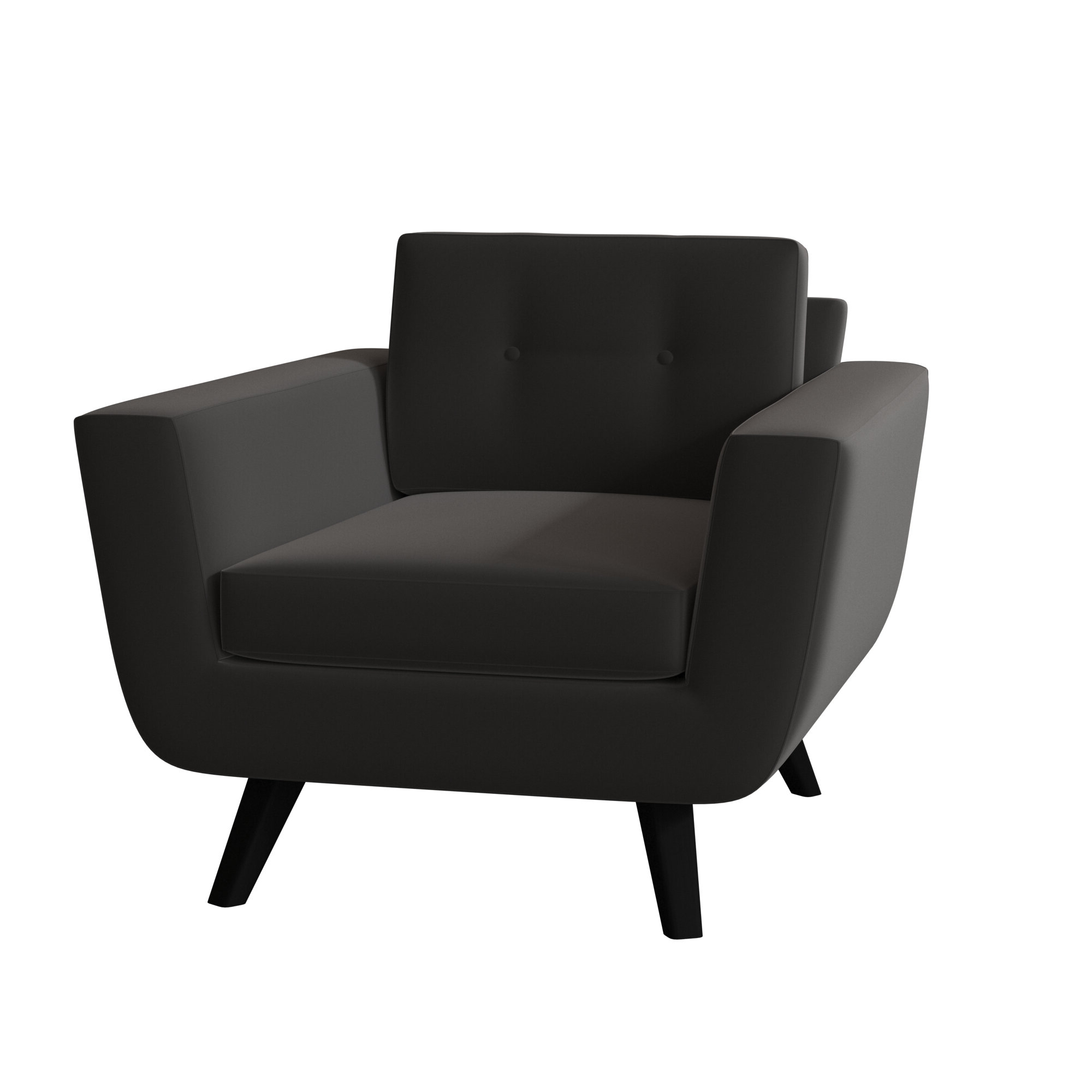Most Popular Black Chrome Accent Chairs You'll Love In (View 8 of 20)