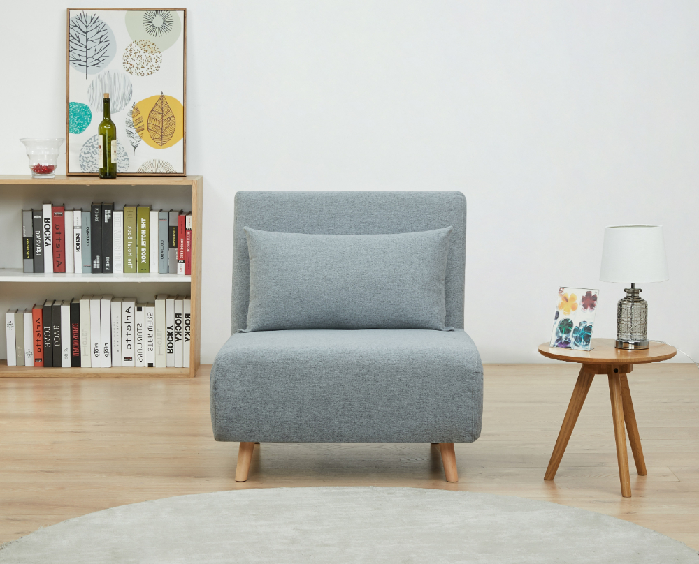 Most Popular Bolen Convertible Chairs With Regard To A&d Home Tustin Convertible Chair, Moonlight – Walmart (View 7 of 20)