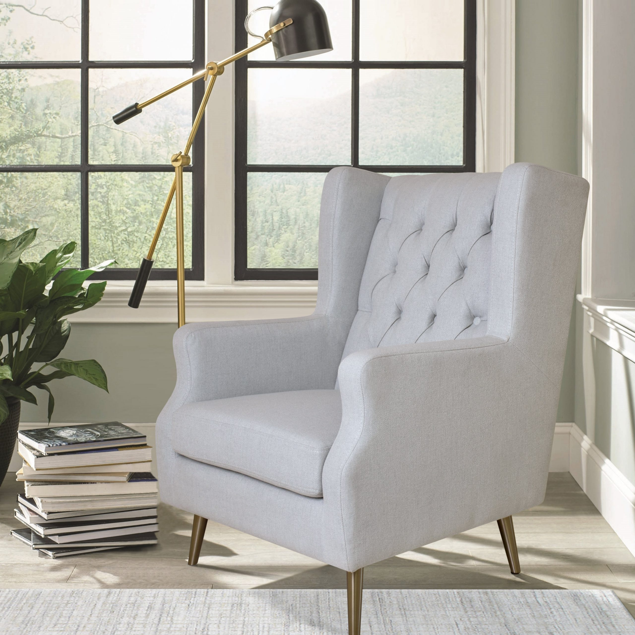 Most Popular Busti Wingback Chairs With Regard To Thomas Wingback Chair (View 13 of 20)