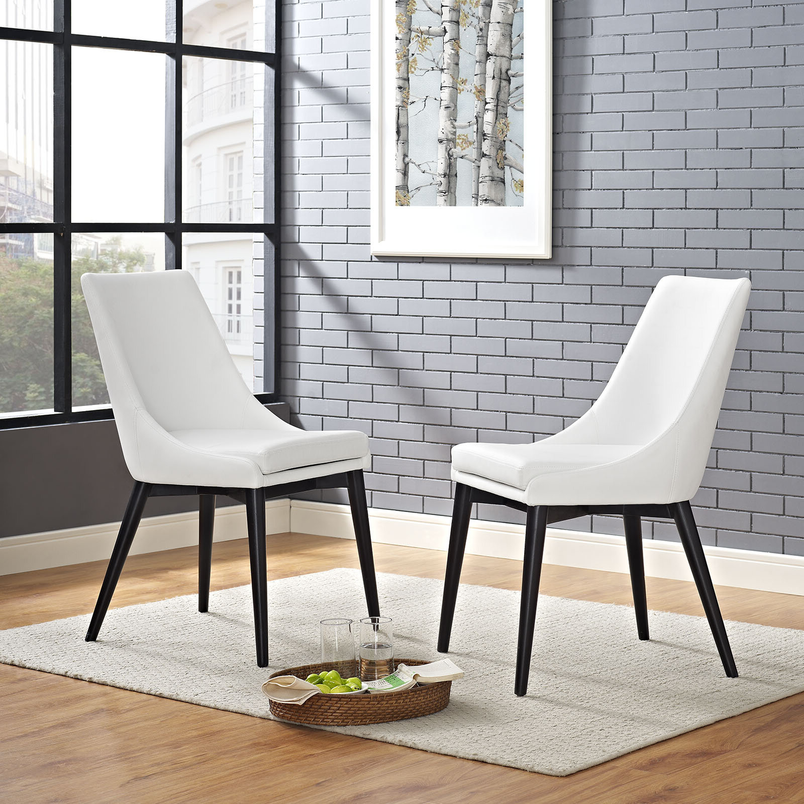 Most Popular Carlton Wood Leg Upholstered Dining Chairs Pertaining To Minton Upholstered Dining Chair (View 13 of 20)