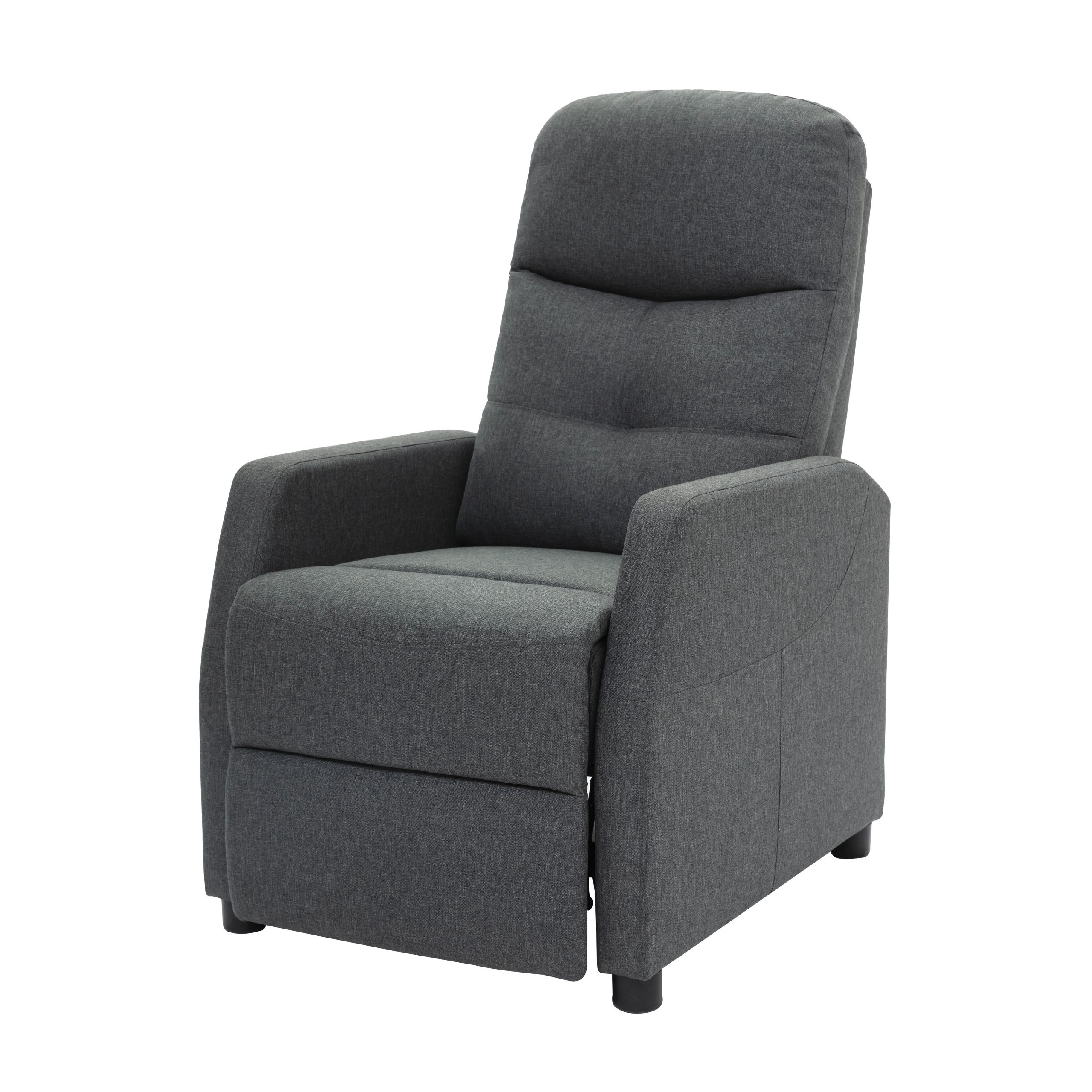 Most Popular Clorence Manual Recliner Intended For Alwillie Tufted Back Barrel Chairs (View 13 of 20)