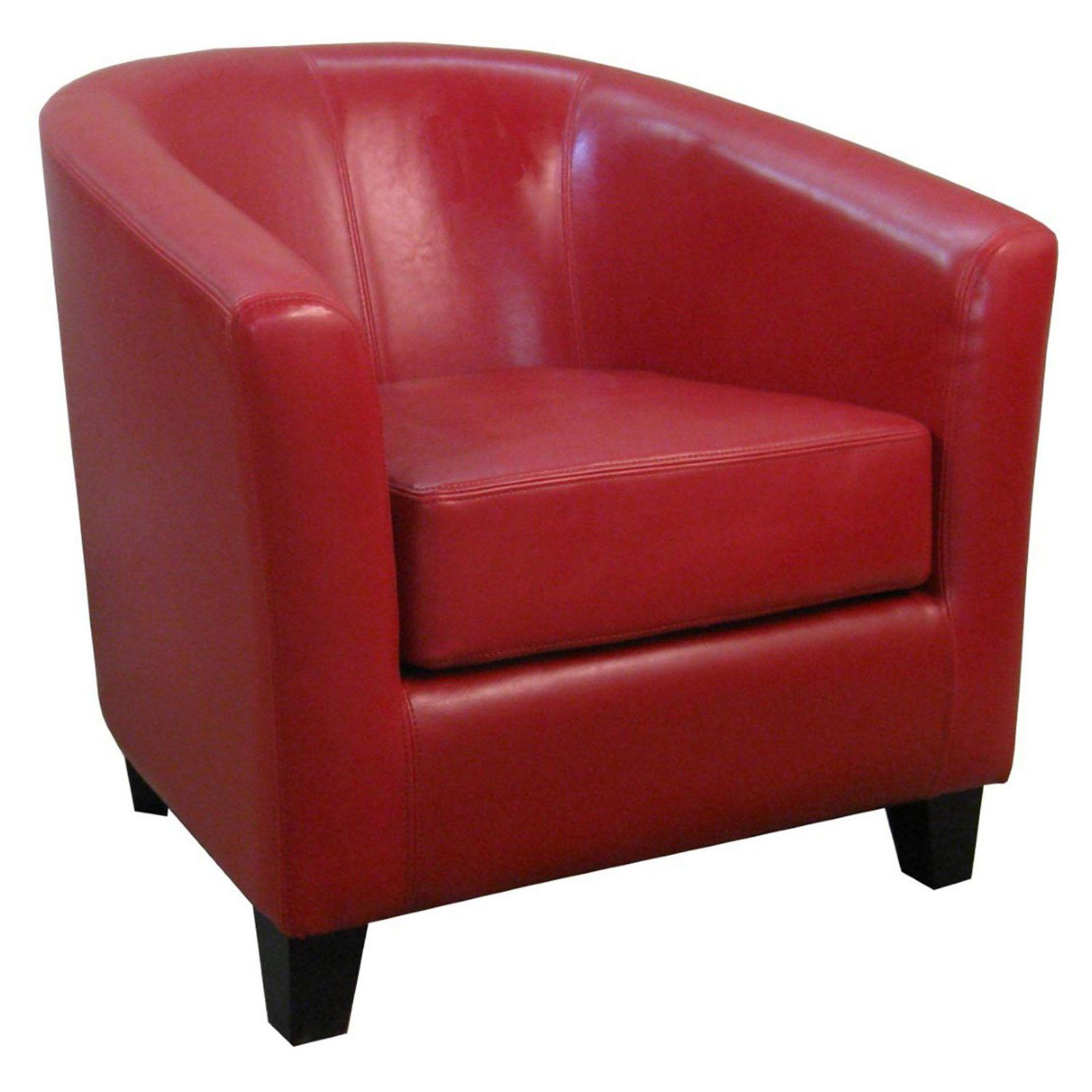 Most Popular Liam Faux Leather Barrel Chairs Pertaining To New Pacific Direct Inc Hayden Leather Tub Accent Chair (View 16 of 20)