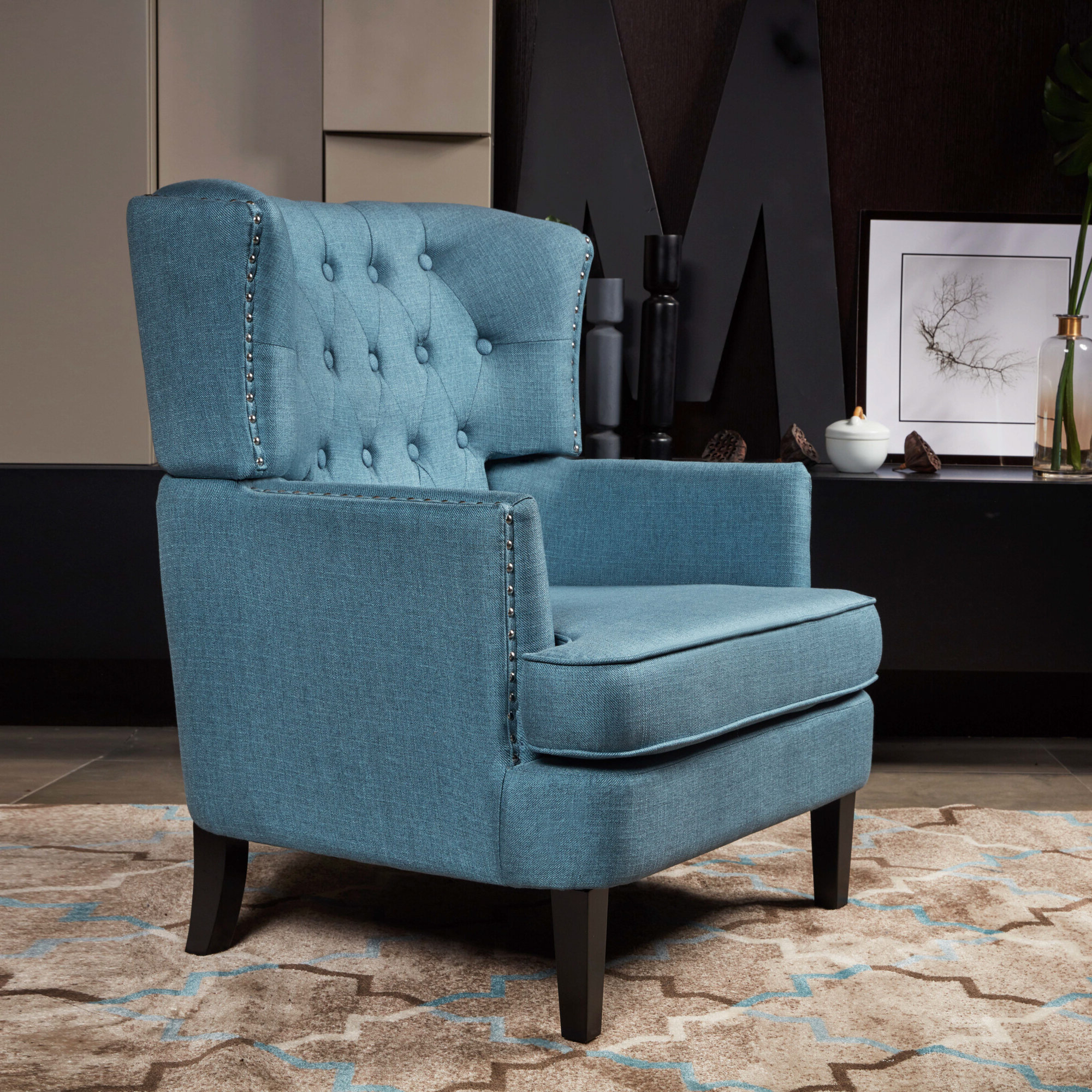 Most Popular Maubara Tufted Wingback Chairs Pertaining To Tufted Wingback Accent Chairs You'll Love In (View 11 of 20)