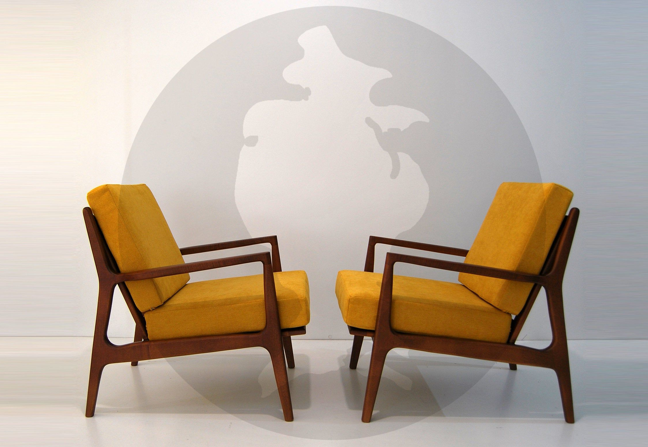 Most Popular Mid Century Modern Armchair / Lounge Chair / Danish Style Intended For Harmoni Armchairs (View 5 of 20)