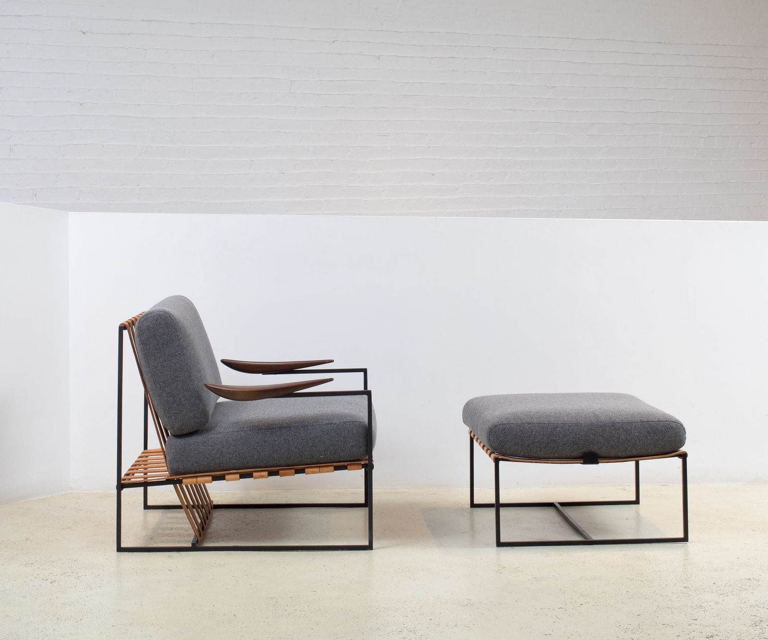 Most Popular Modern Armchairs And Ottoman With Annette Armchair And Ottoman Designedjorge Zalszupin (View 3 of 20)