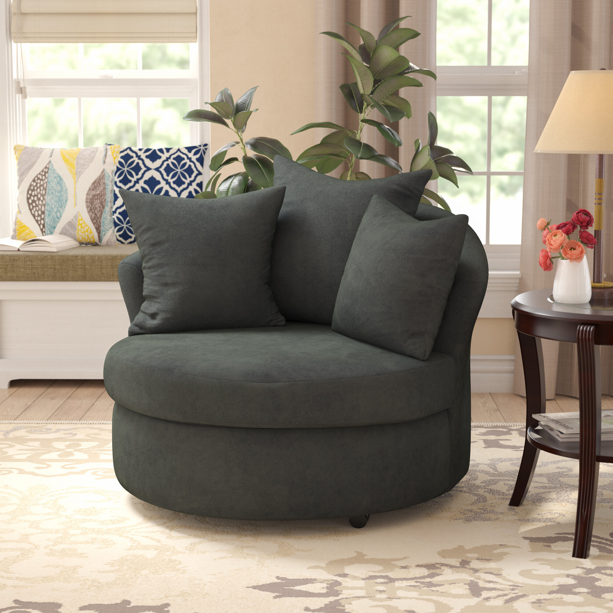 Most Popular Molinari Swivel Barrel Chairs Pertaining To Varennes Barrel Chair (View 19 of 20)