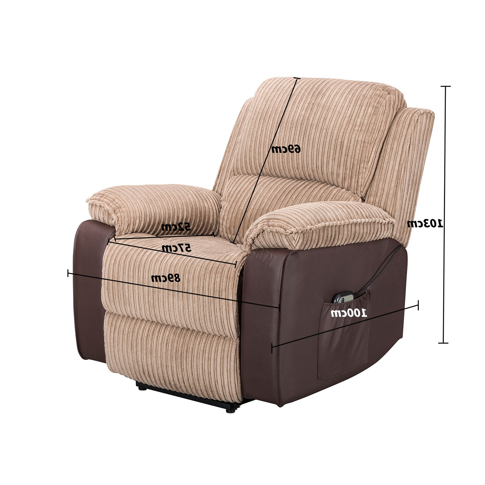 Most Popular Montenegro Faux Leather Club Chairs For Westwood Fabric Electric Recliner Sofa Faux Leather Armchair (View 16 of 20)