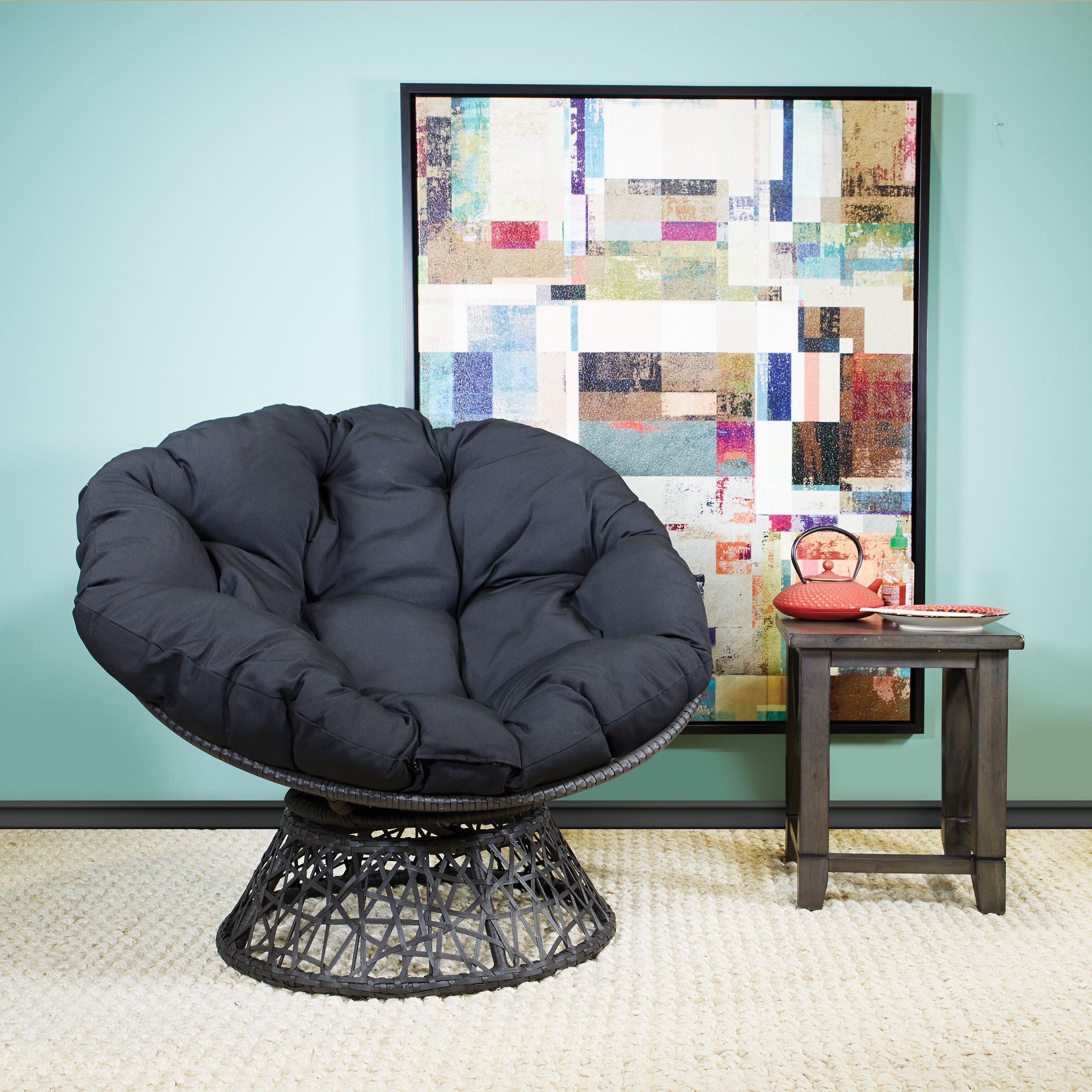 Most Popular Osp Designs Swivel Papasan Chair & Reviews (View 12 of 20)
