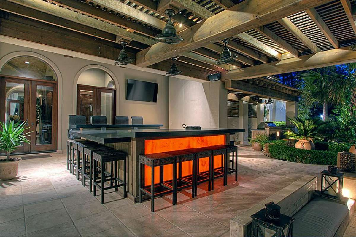 Most Popular Outdoor Home Renovations With The Highest Return On Investment Regarding Coomer Faux Leather Barrel Chairs (View 13 of 20)
