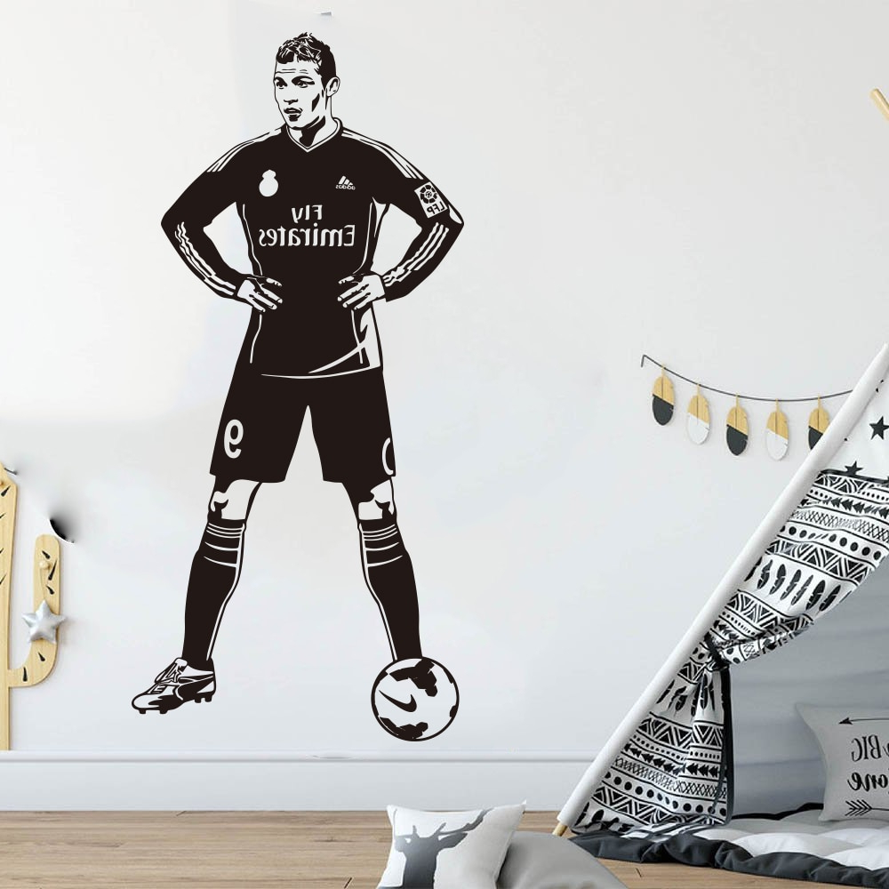 Most Popular Ronaldo Polyester Armchairs Pertaining To Cristiano Ronaldo Portugal Wall Decal Vinyl Sticker For Room (View 15 of 20)
