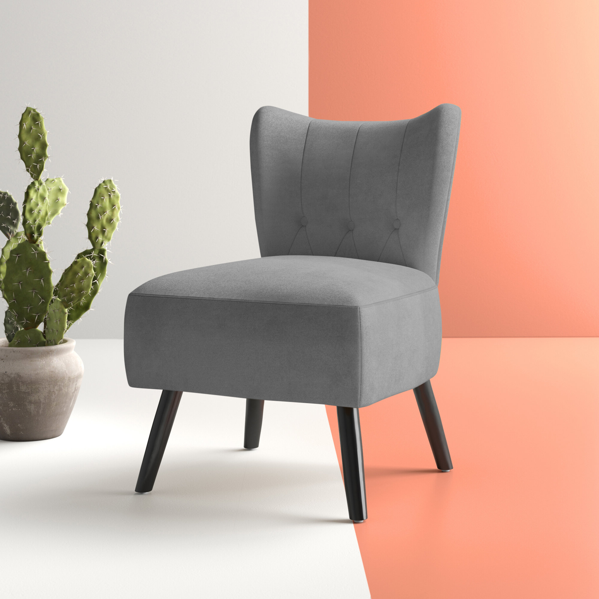 "Most Popular Suki Armchairs By Canora Grey With Regard To Ivo 30"" W Tufted Wingback Chair (View 4 of 20)"