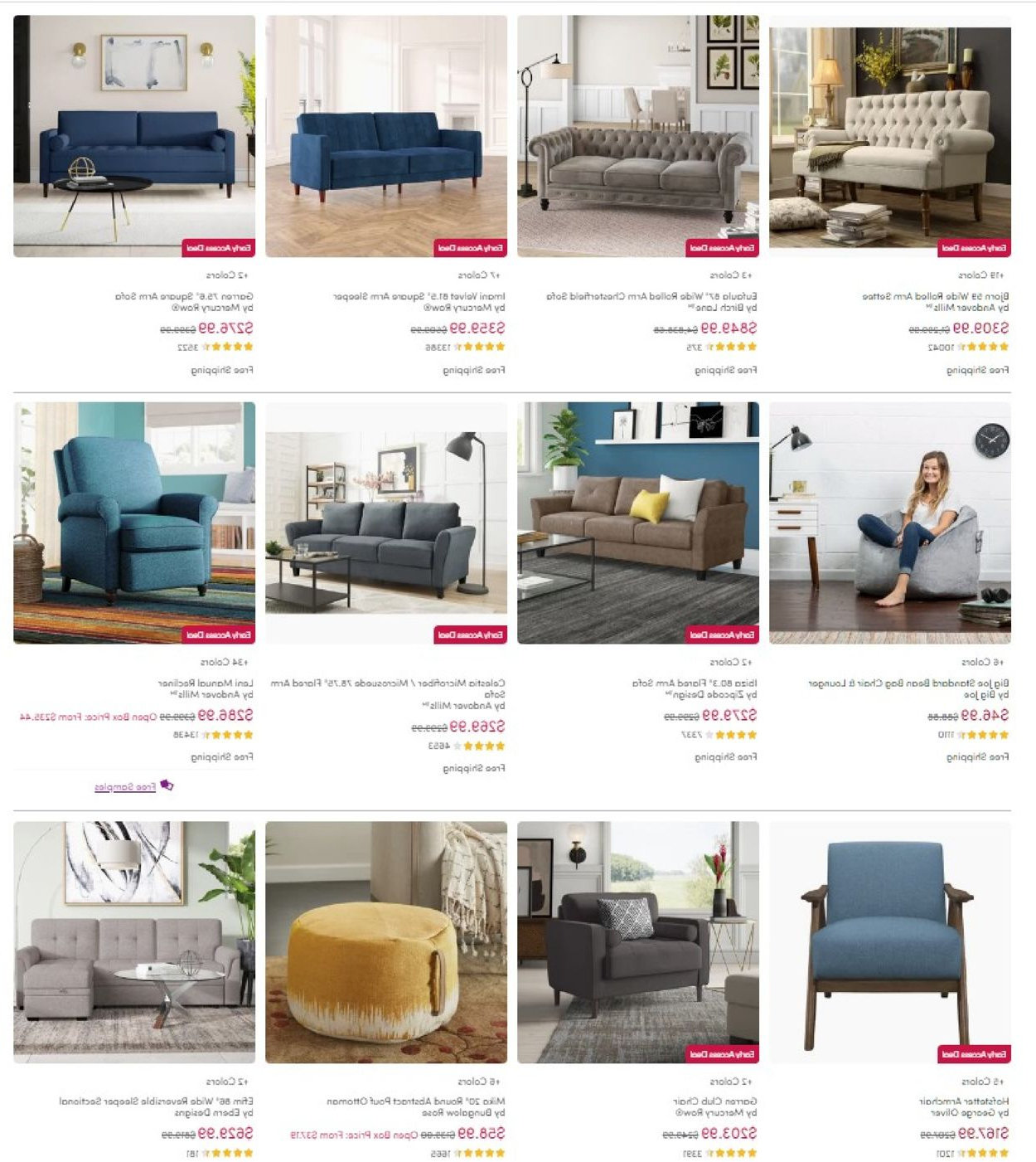 Most Popular Wayfair Black Friday 2020 Current Weekly Ad 11/25 – 12/01 Intended For Hofstetter Armchairs (View 18 of 20)
