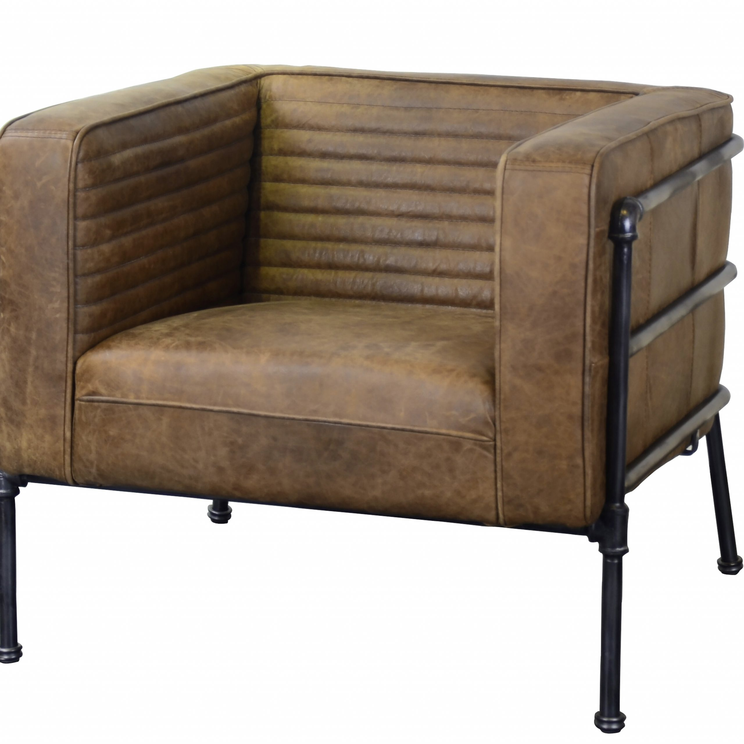 """Most Recent Shearer 31"""" W Tufted Top Grain Leather Club Chair In Sheldon Tufted Top Grain Leather Club Chairs (View 2 of 20)"""