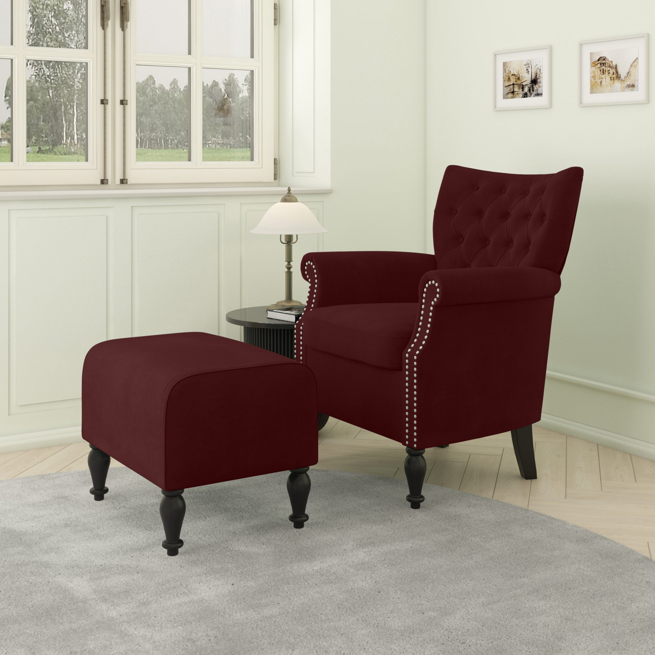 Most Recently Released Akimitsu Barrel Chair And Ottoman Sets With Brassfield Armchair And Ottoman (View 3 of 20)