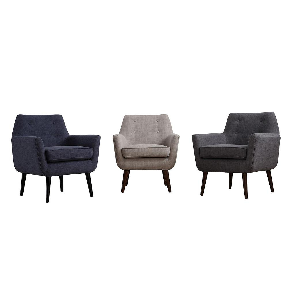 Most Recently Released Navin Barrel Chairs In Sadie Navy Linen Chair (View 17 of 20)