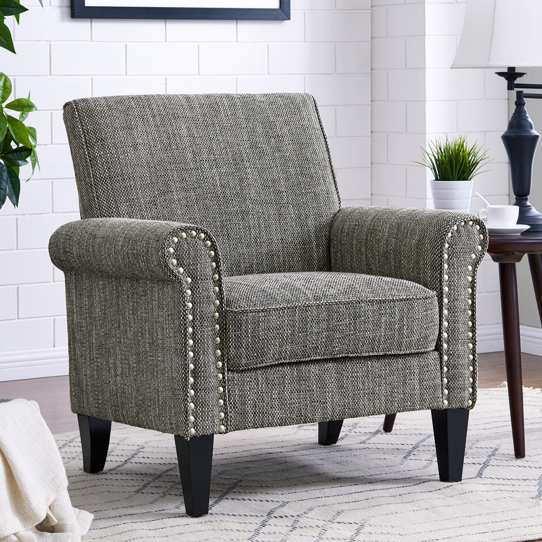 Most Recently Released Pitts Armchairs Within White Accent Chairs You'll Love In (View 9 of 20)