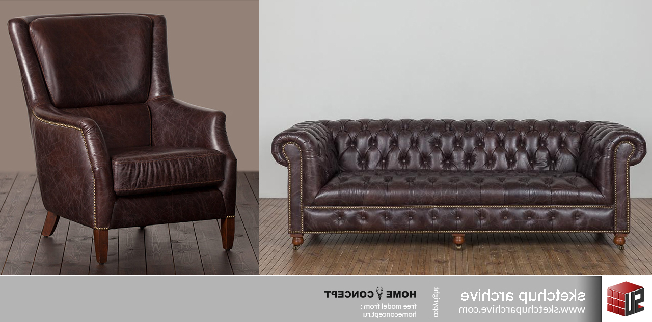 Most Recently Released Popel Armchairs Intended For Triple Sofa Bensington & Armchair Chelsi – Sketchup Archive (View 20 of 20)