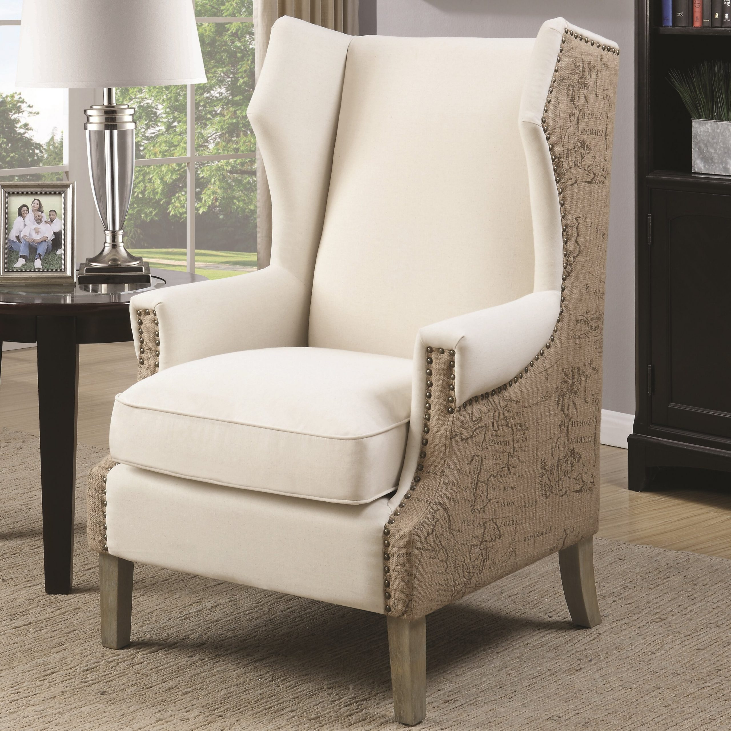 Most Up To Date Durrant Wingback Chair With Busti Wingback Chairs (View 7 of 20)