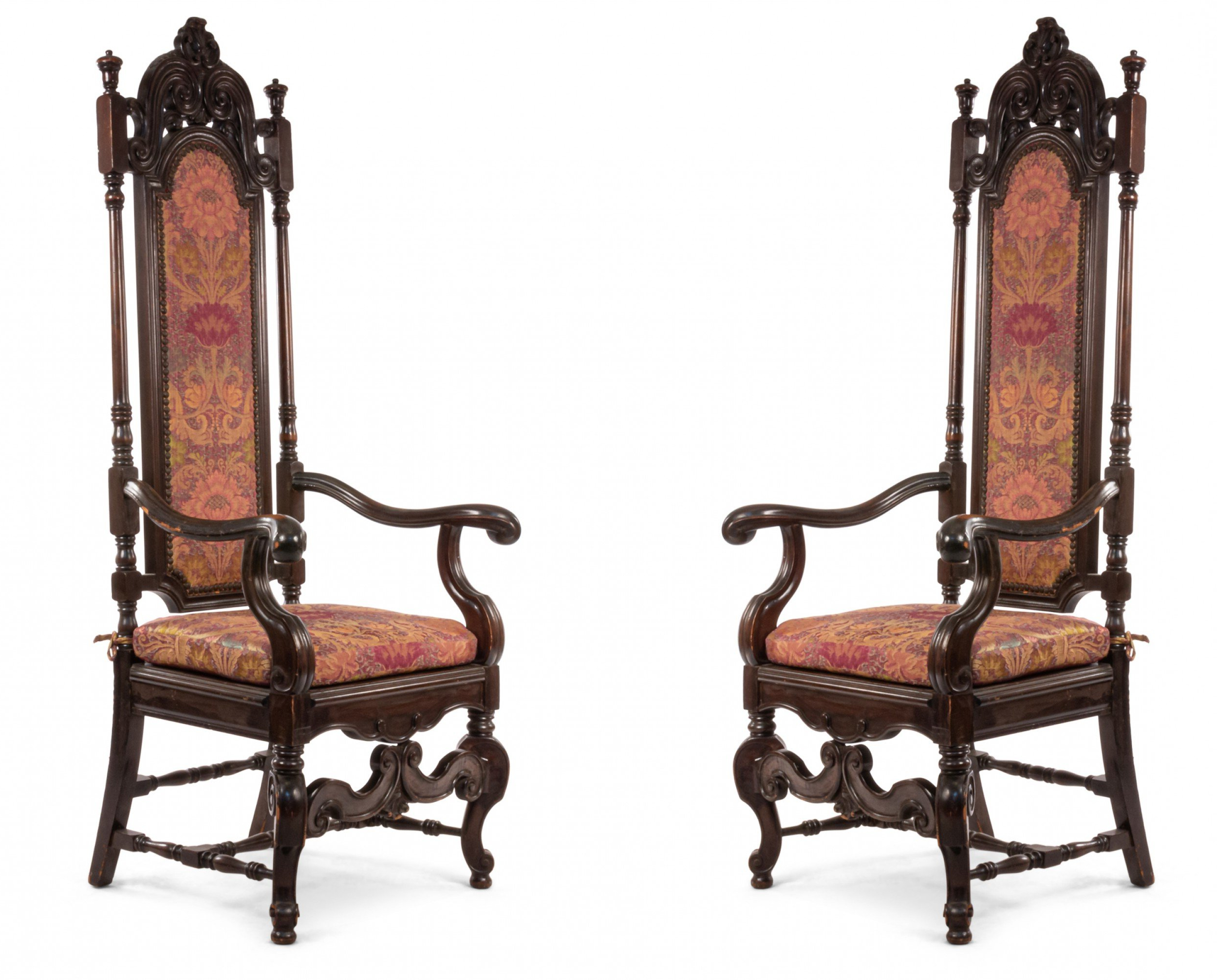 Most Up To Date English James Ii Walnut Arm Chair 1 Inside James Armchairs (View 6 of 20)