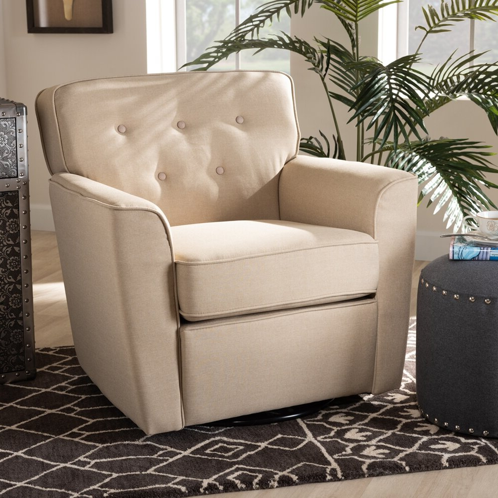 Most Up To Date Fabric Swivel Armchair Intended For Vineland Polyester Swivel Armchairs (View 8 of 20)
