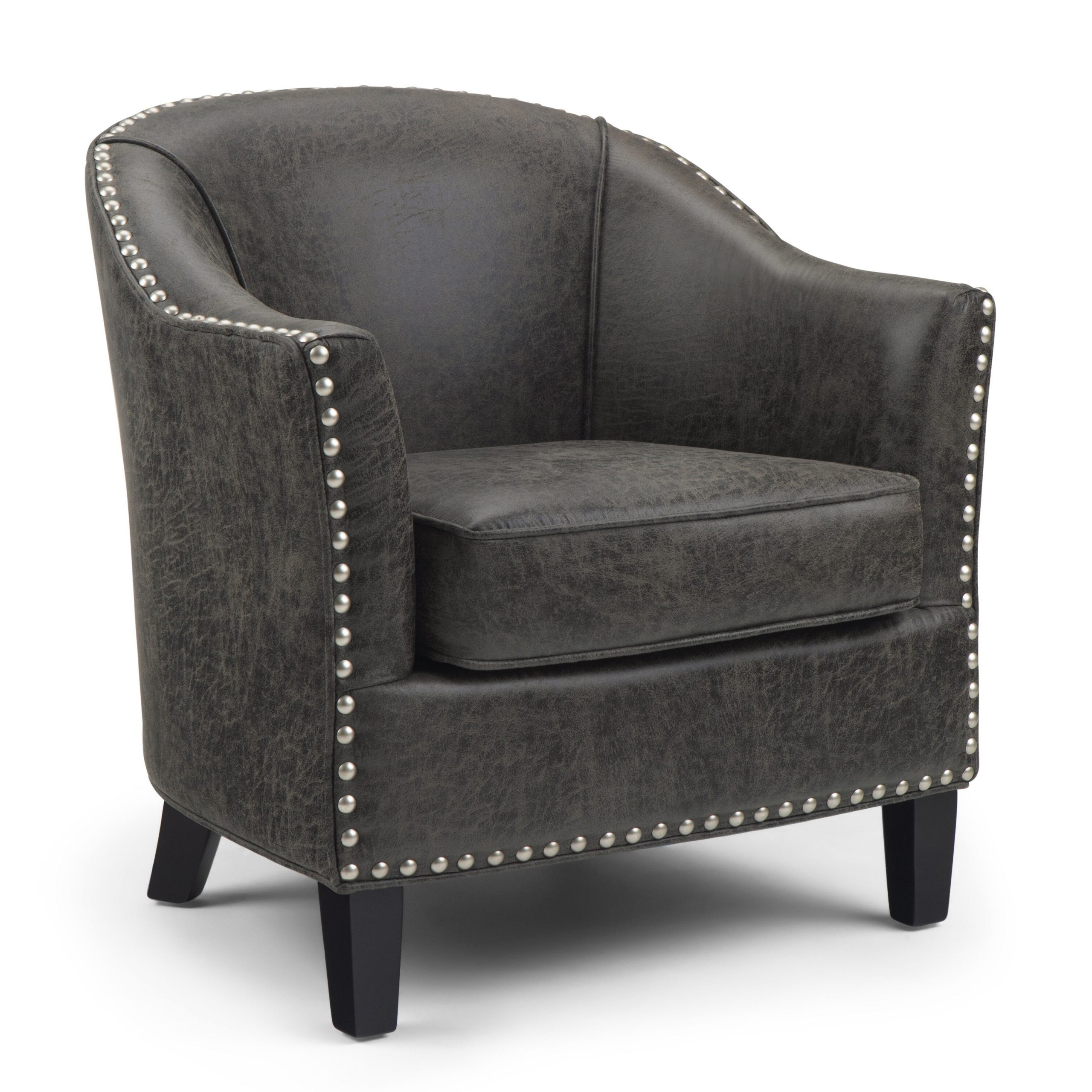 "Most Up To Date Faux Leather Barrel Chairs Within Charlton Home® Burkart 29"" W Faux Leather Barrel Chair (View 1 of 20)"