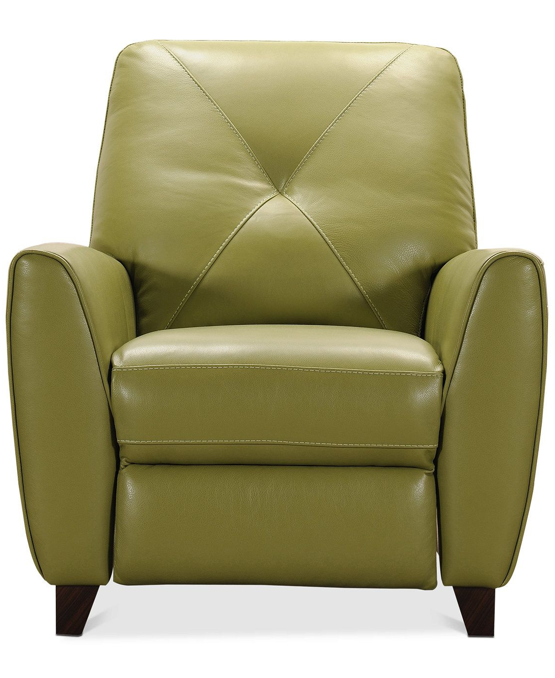 Most Up To Date Furniture Myia Leather Pushback Recliner, Created For Macy's Inside Myia Armchairs (View 8 of 20)