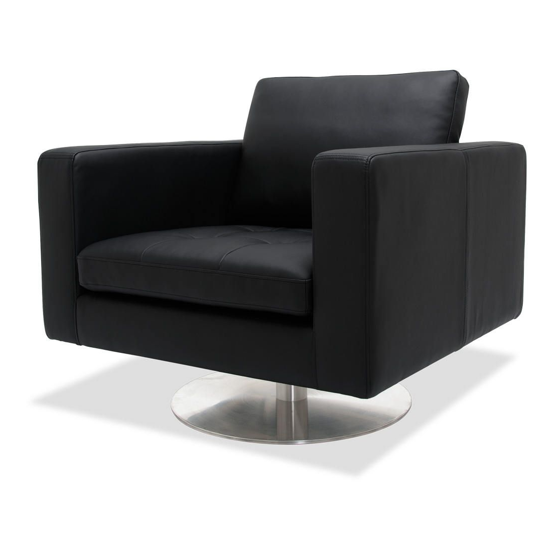 Most Up To Date Greenwich Black Leather Rotating Chair (View 16 of 20)