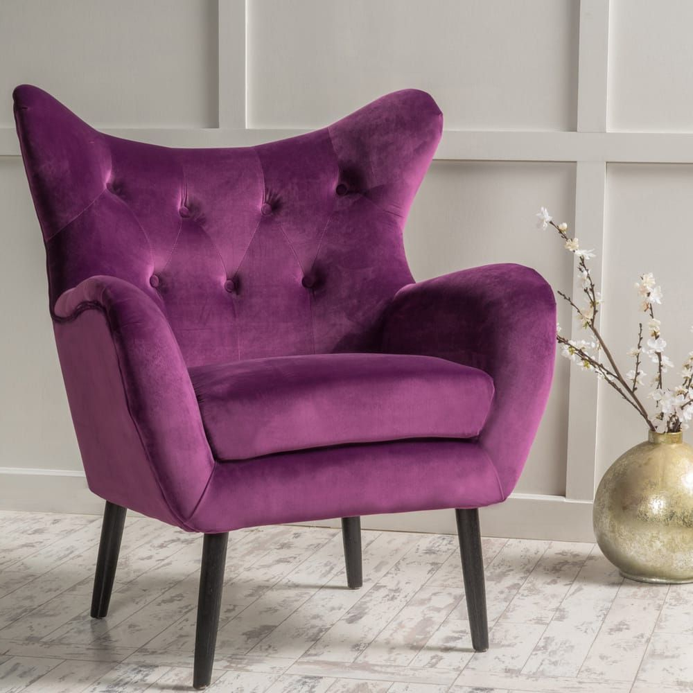 Most Up To Date Overstock: Online Shopping – Bedding, Furniture With Regard To Didonato Tufted Velvet Armchairs (View 6 of 20)
