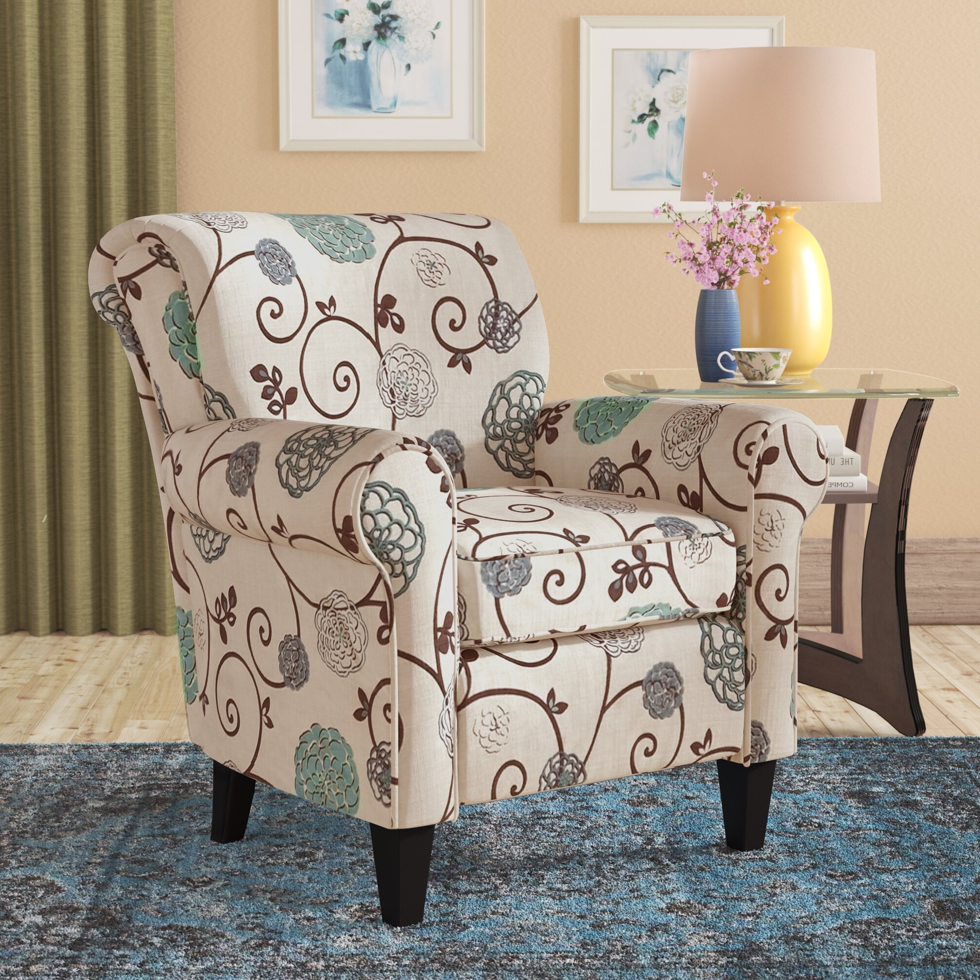 Most Up To Date Ringwold Armchairs Pertaining To Harmon Cloud Barrel Chair And Ottoman (View 8 of 20)