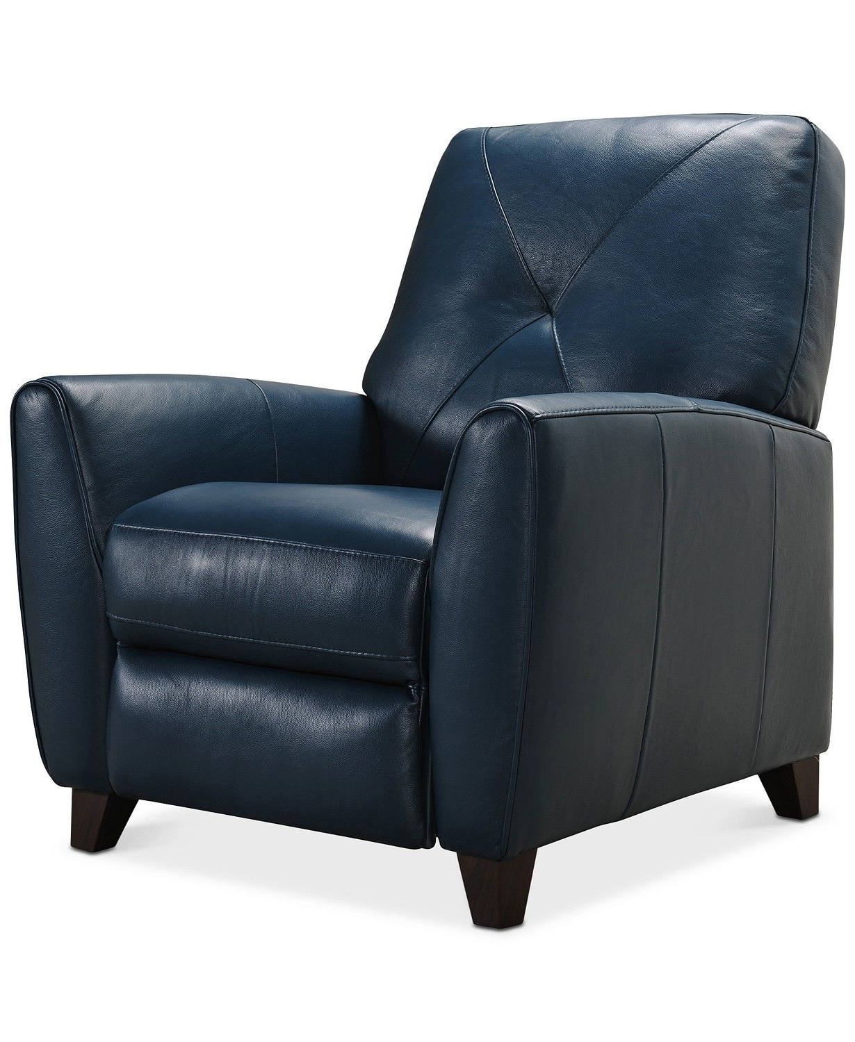 Myia Armchairs Regarding Most Popular Furniture Myia Leather Pushback Recliner, Created For Macy's (View 7 of 20)