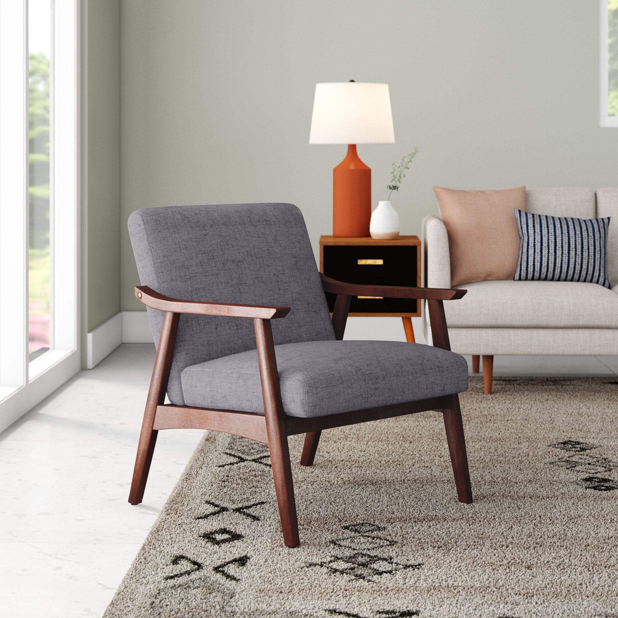 Nadene Armchairs Intended For Most Recently Released Scandinavian Accent Chairs You'll Love In (View 5 of 20)