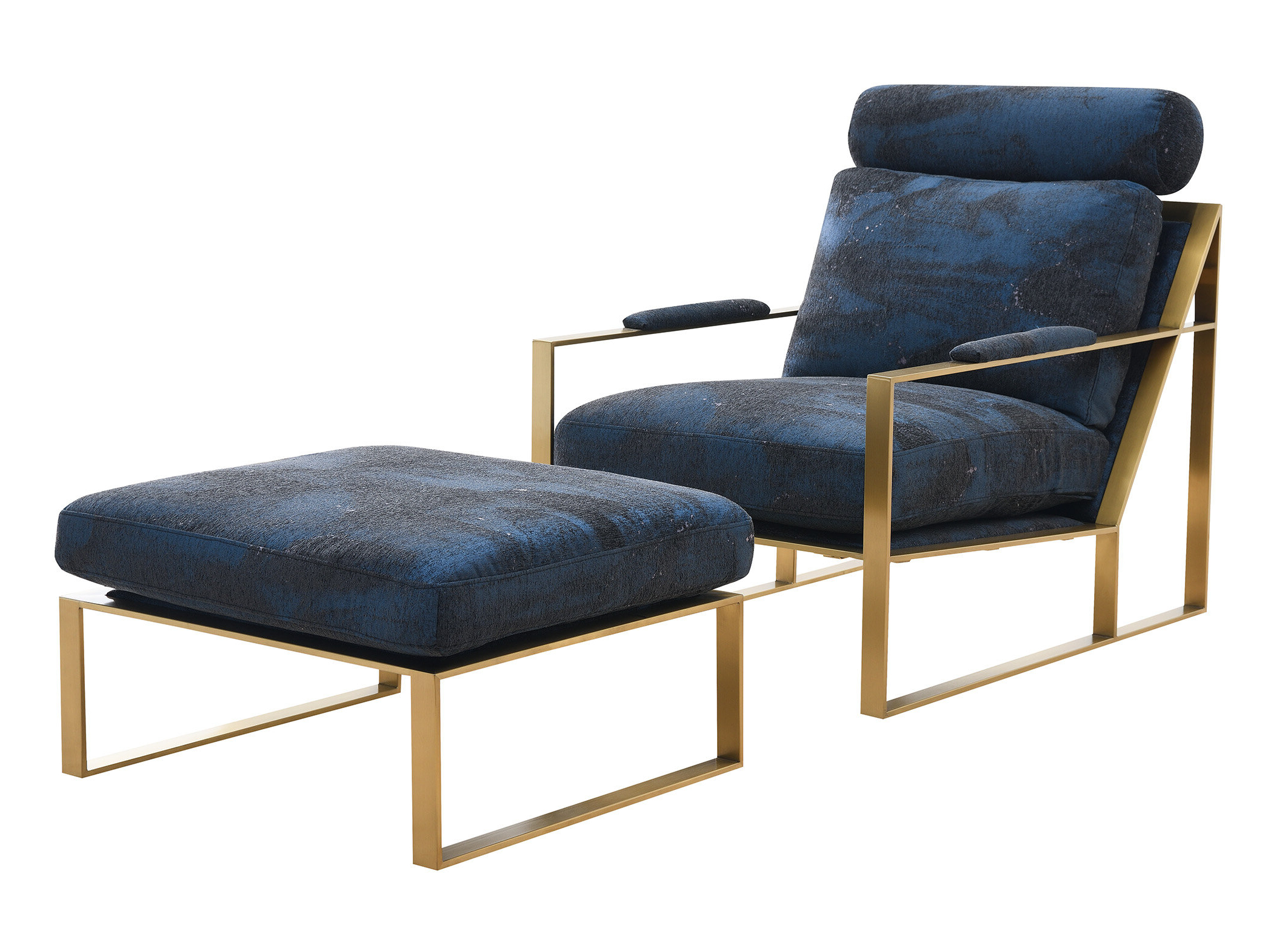 Navy Ottoman Included Accent Chairs You'll Love In 2021 Inside Widely Used Hallsville Performance Velvet Armchairs And Ottoman (View 8 of 20)