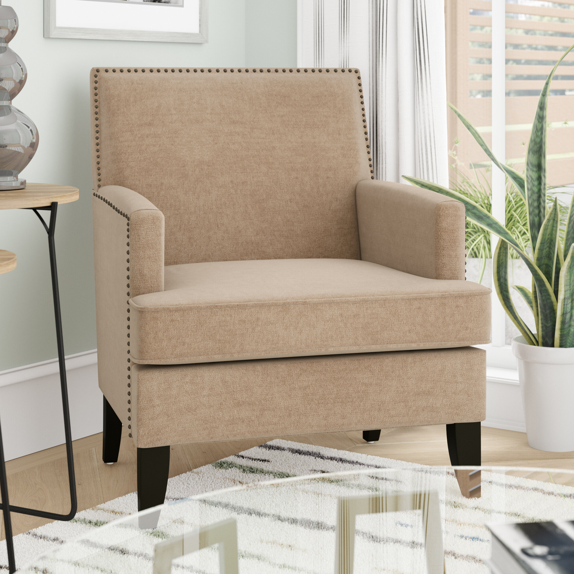 Newest Arm Modern & Contemporary Accent Chairs You'll Love In 2021 Within Bethine Polyester Armchairs (set Of 2) (View 8 of 20)
